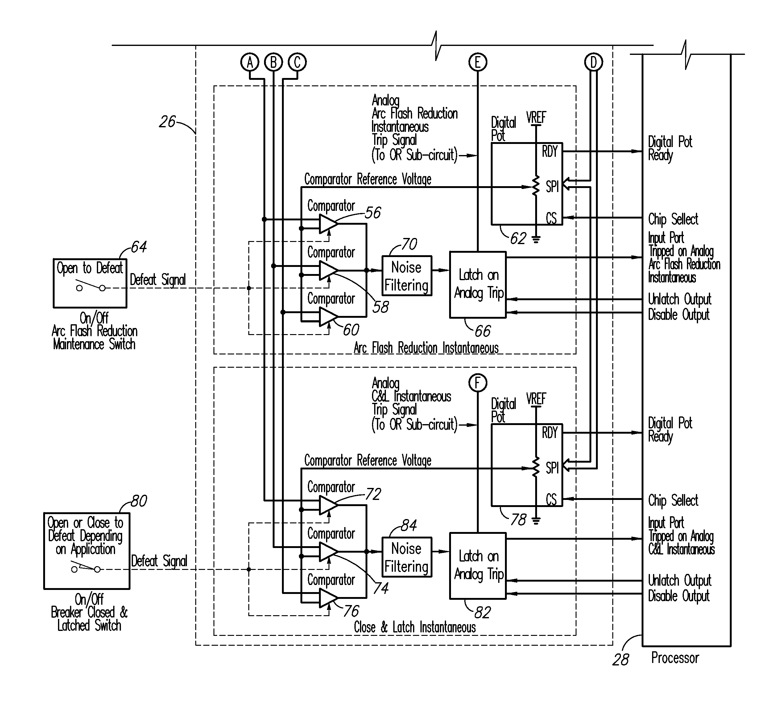 Ab Circuit Breaker Schematic Wiring Diagrams Reflectivesensor Sensorcircuit Diagram Seekiccom Patent Us8837103 Trip Unit With Digital Rh Google Com Na Symbol Drawing