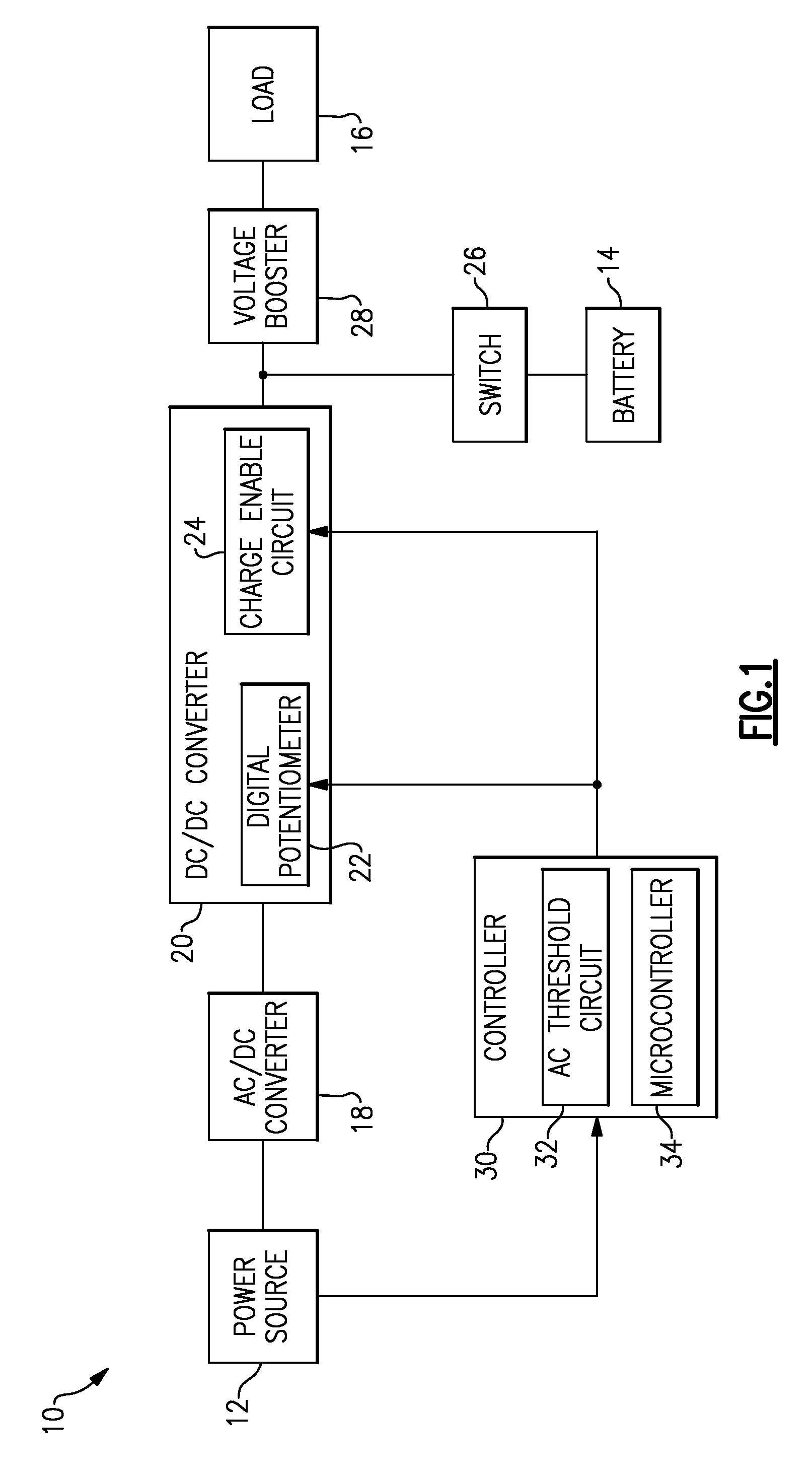 Patent Us8841879 Control Circuit Operable To Charge A Battery At Ac Potentiometer Wiring Drawing