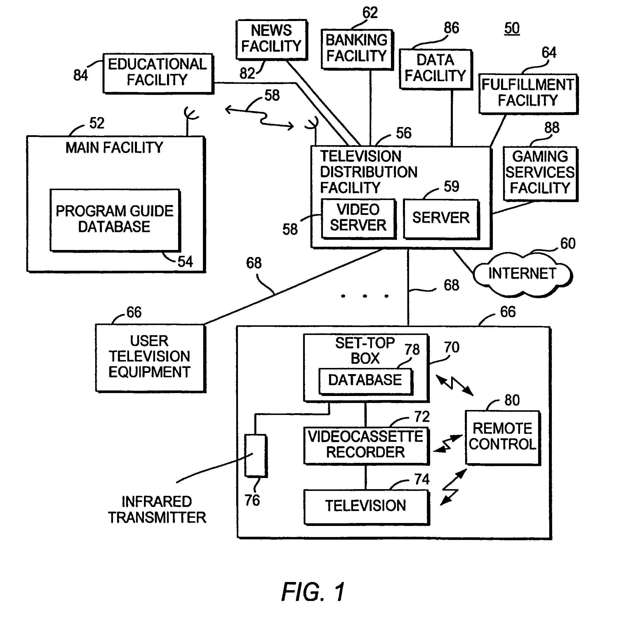 patent us8843963 interactive television system with programming 500 Lb Bomb WW2 patent drawing
