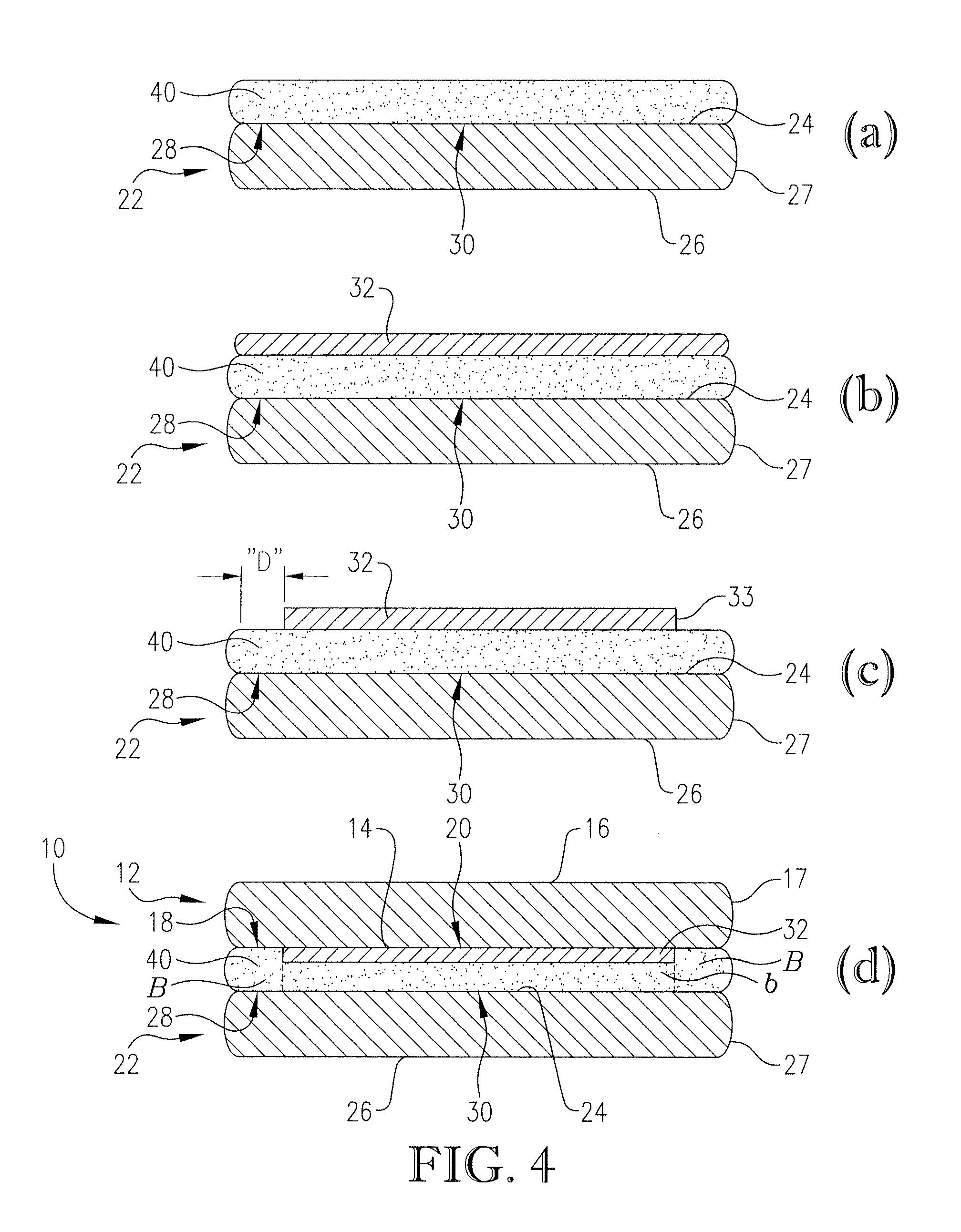Needle penetration polyisobutylene