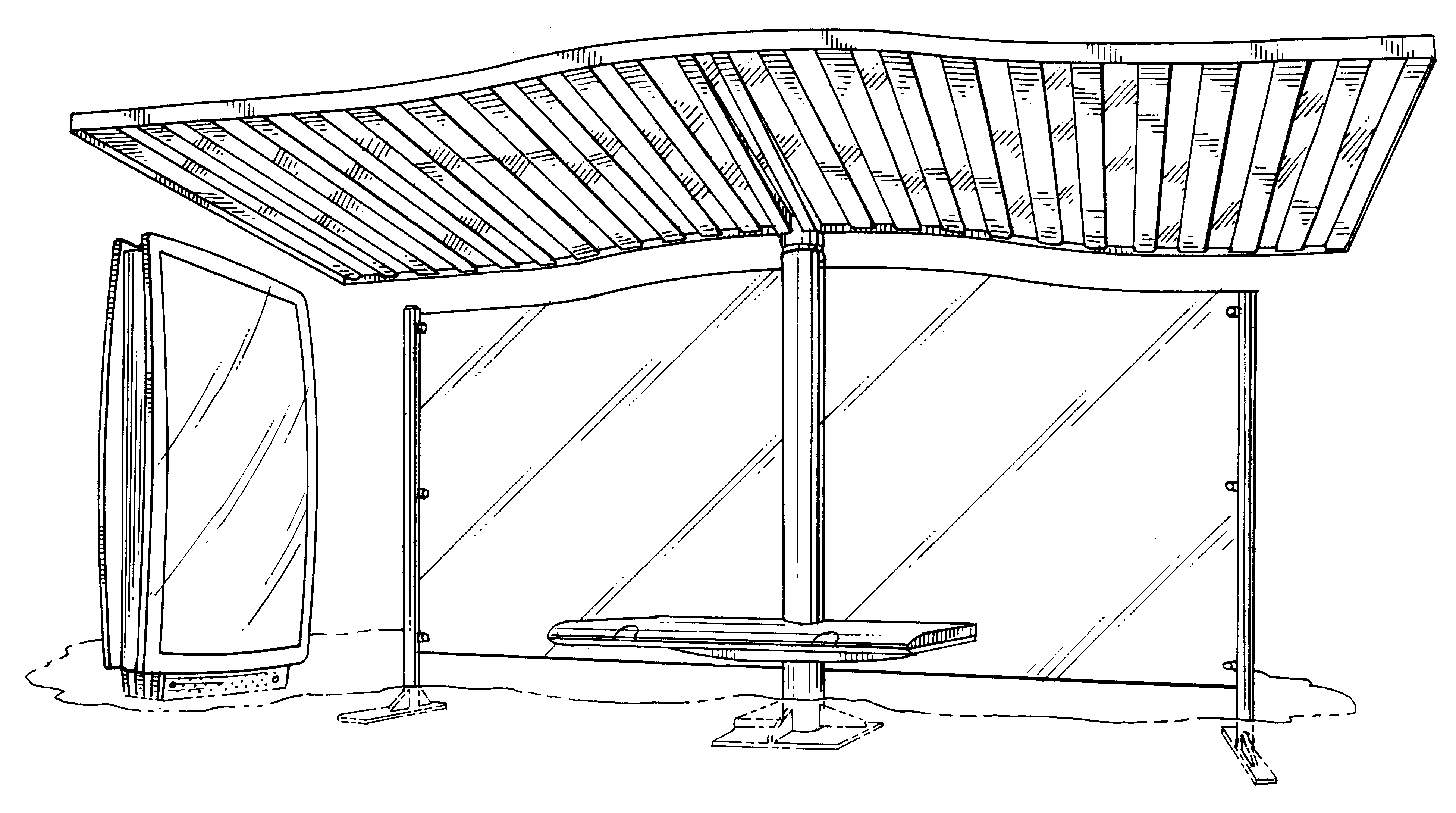 Patent Usd438635 - Bus Shelter