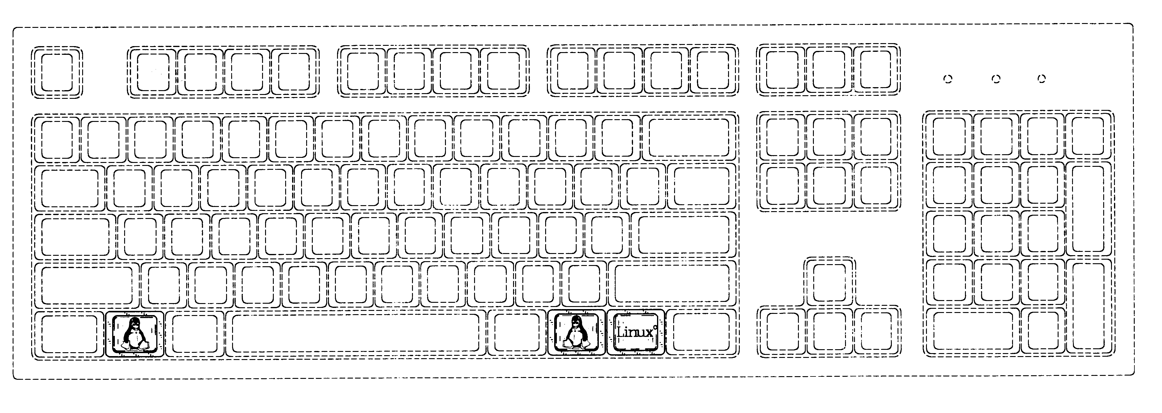 Line Drawing Keyboard : Patent usd set of keys for a computer keyboard