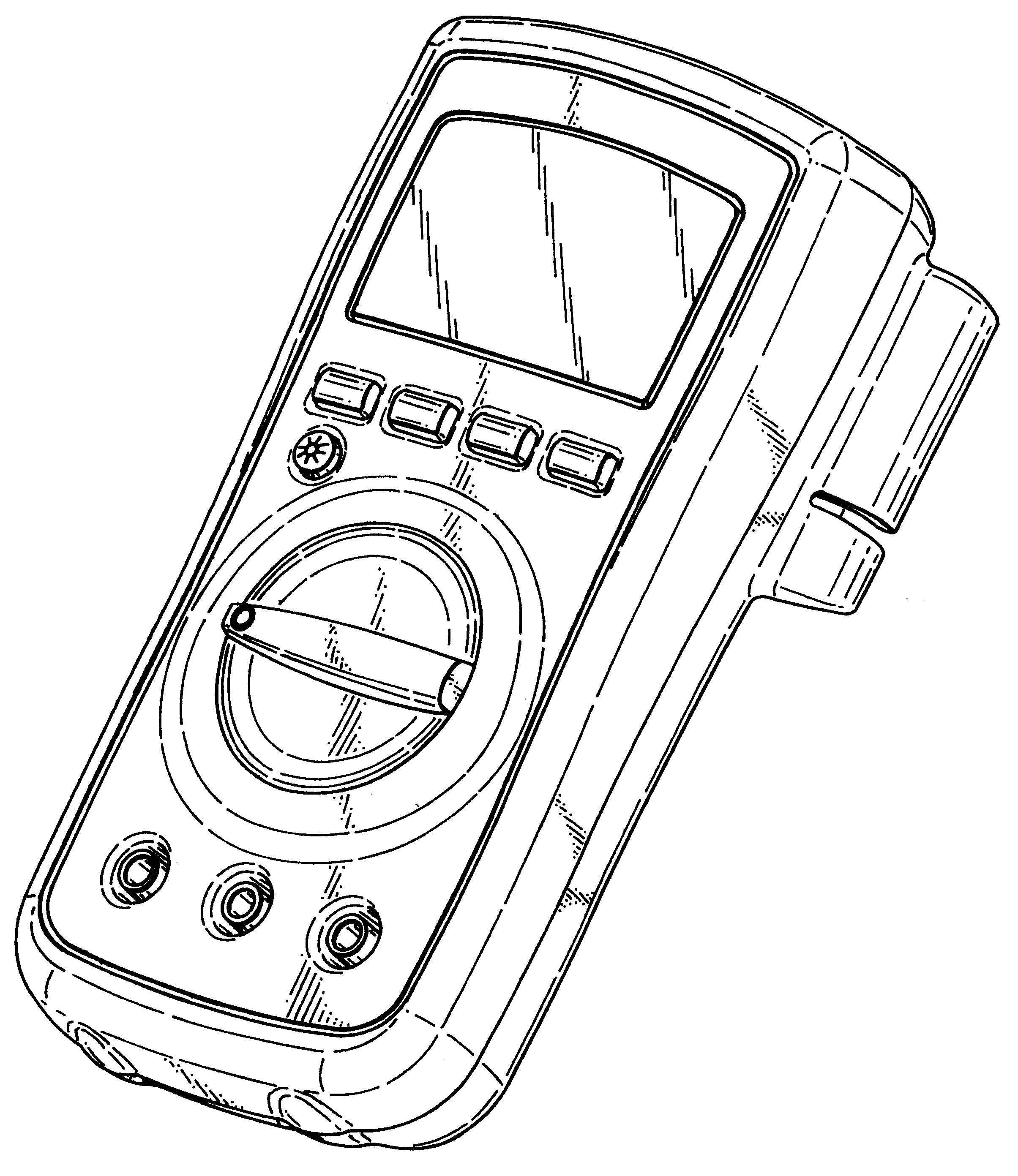 patent usd446735 - digital multimeter