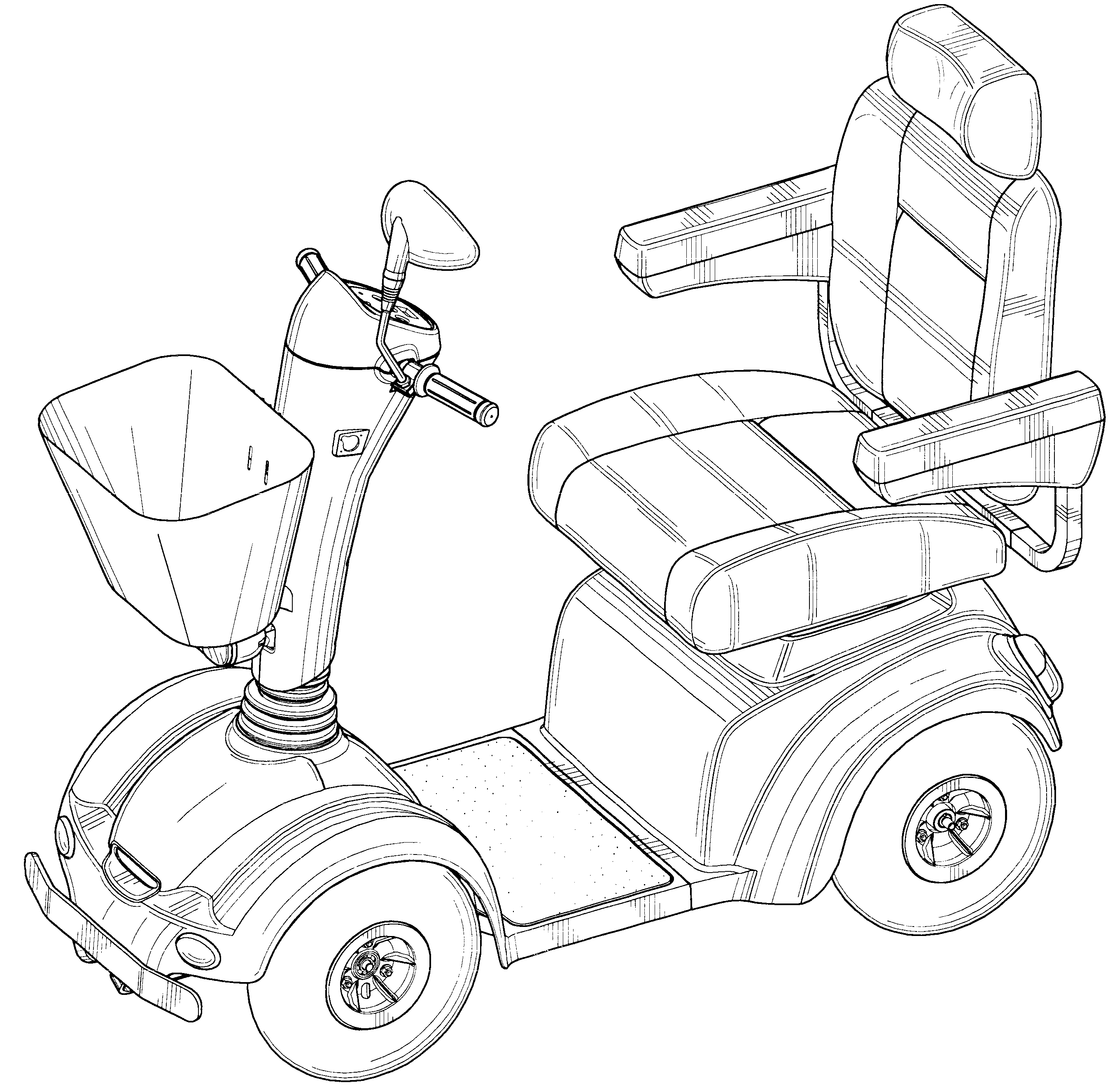 patent usd460028 - electric mobility scooter