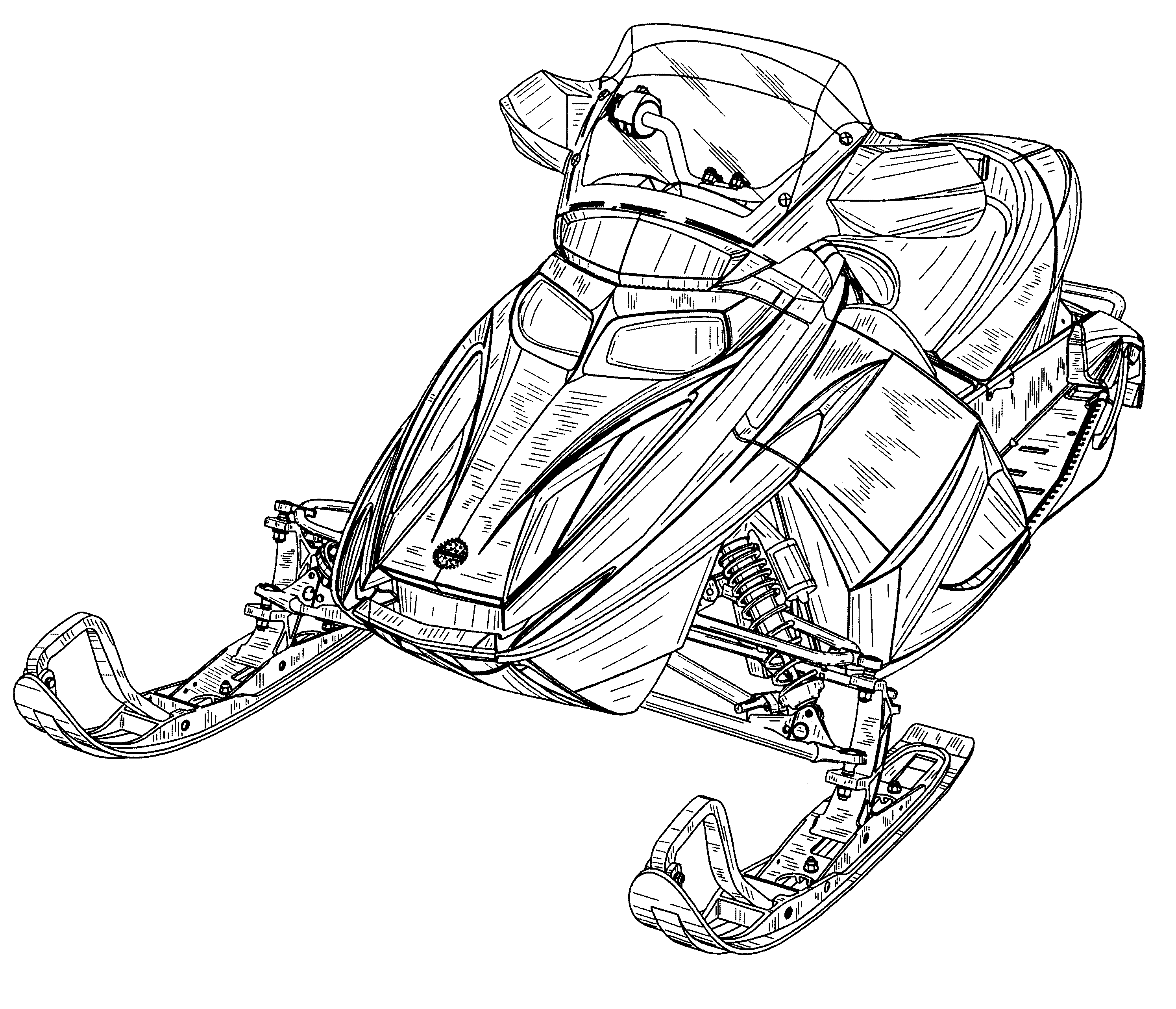 snowmobile coloring pages - photo#33
