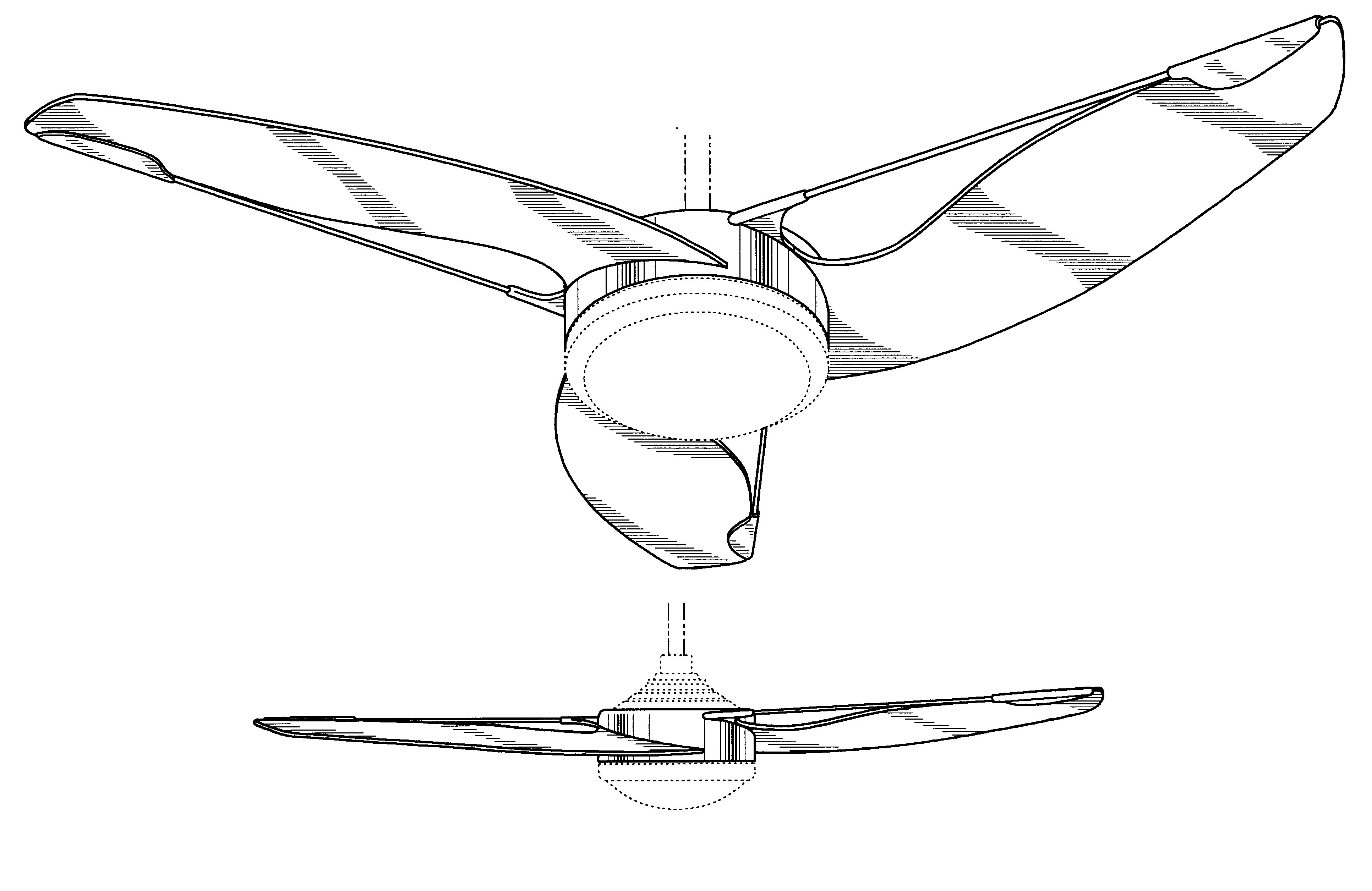 Fan Blade Drawing : Patent usd ceiling fan blade assembly google patents