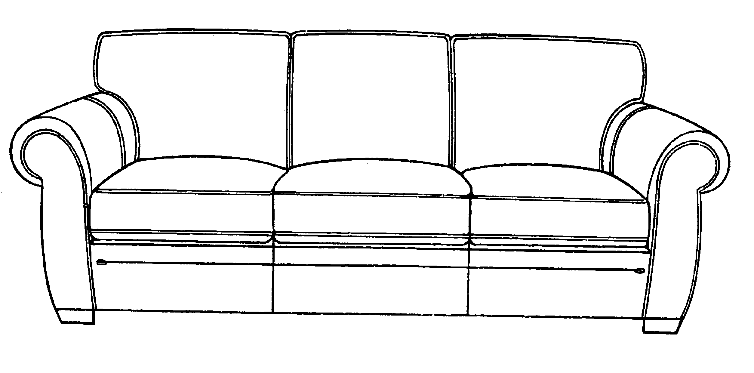 how to draw a couch from the back