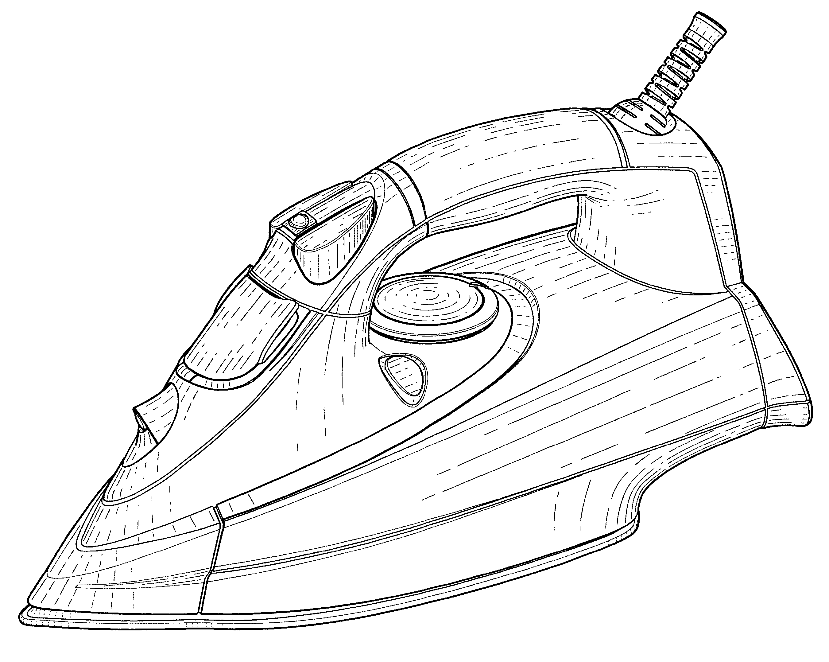 patent usd529249 - electronic steam iron