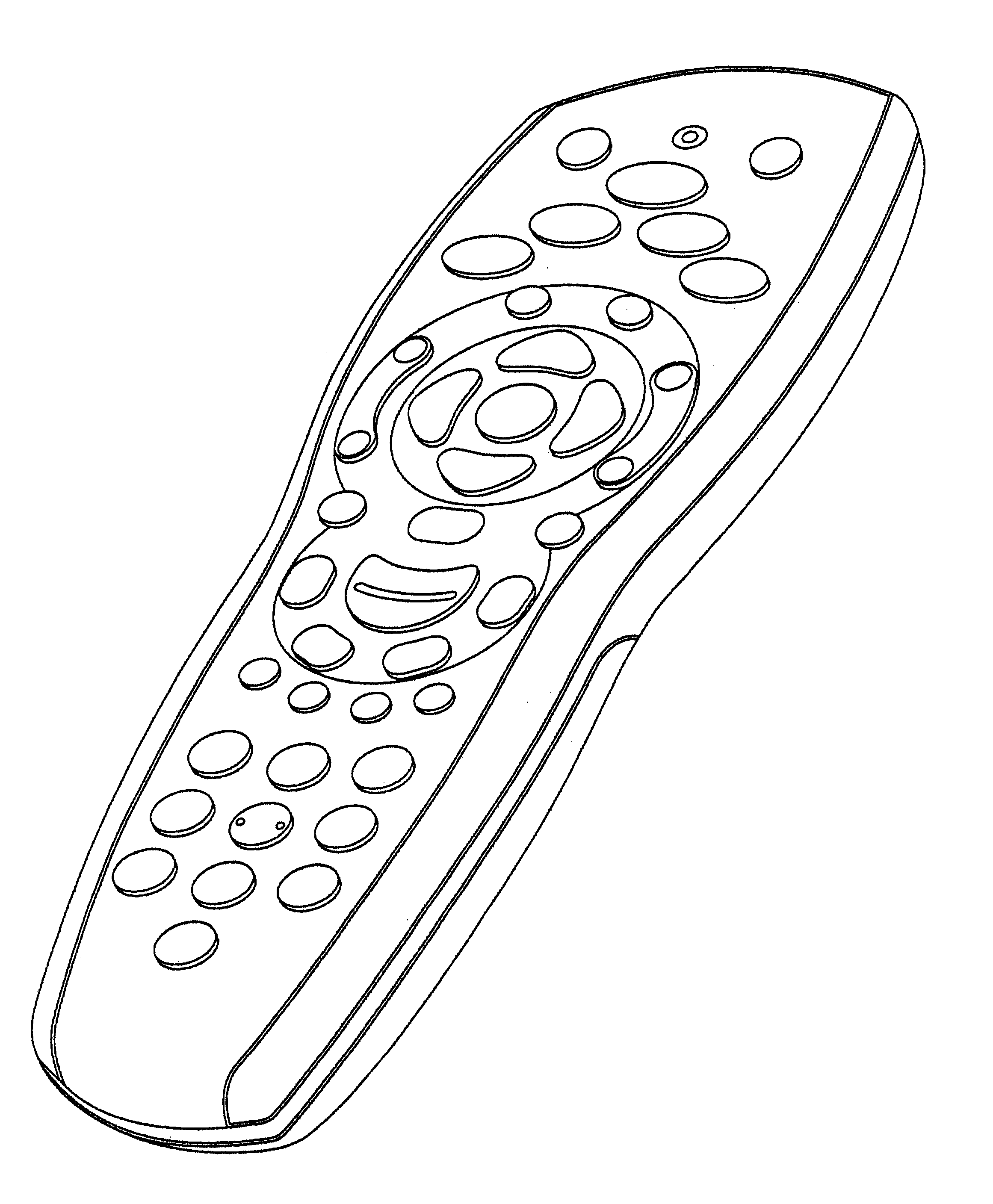 remote control drawing. patent drawing remote control m