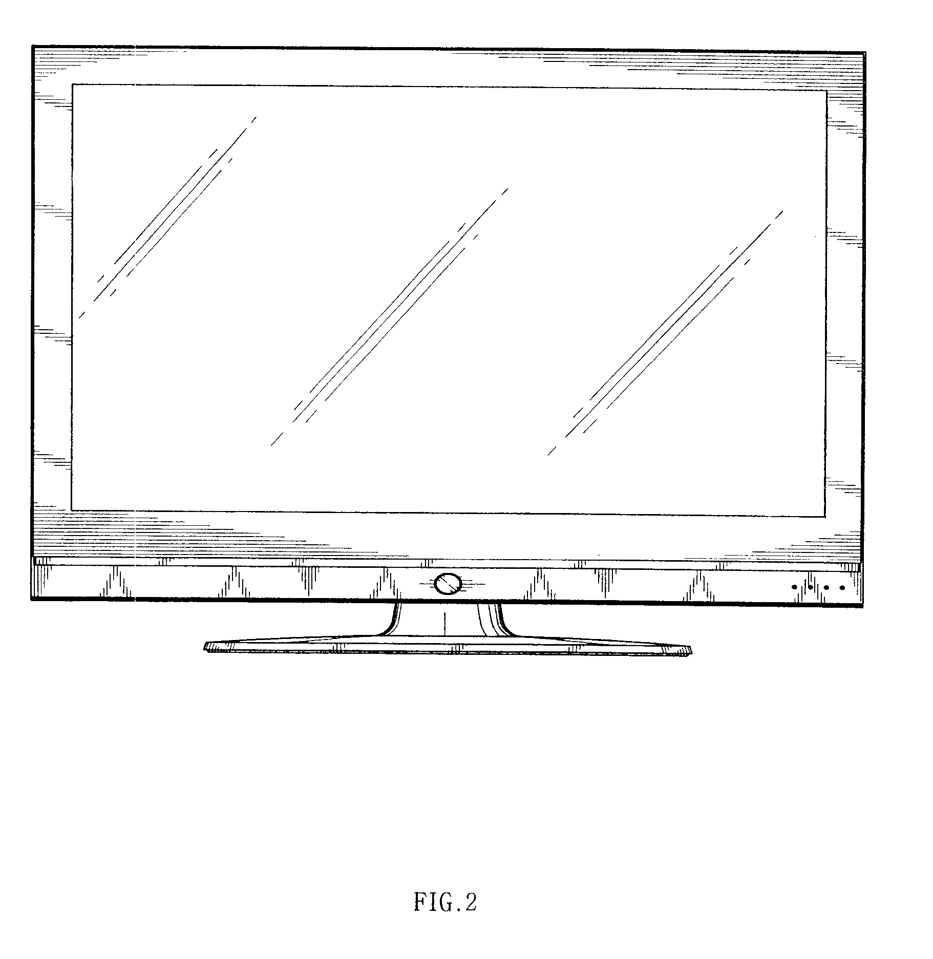 tv drawing. patent drawing tv