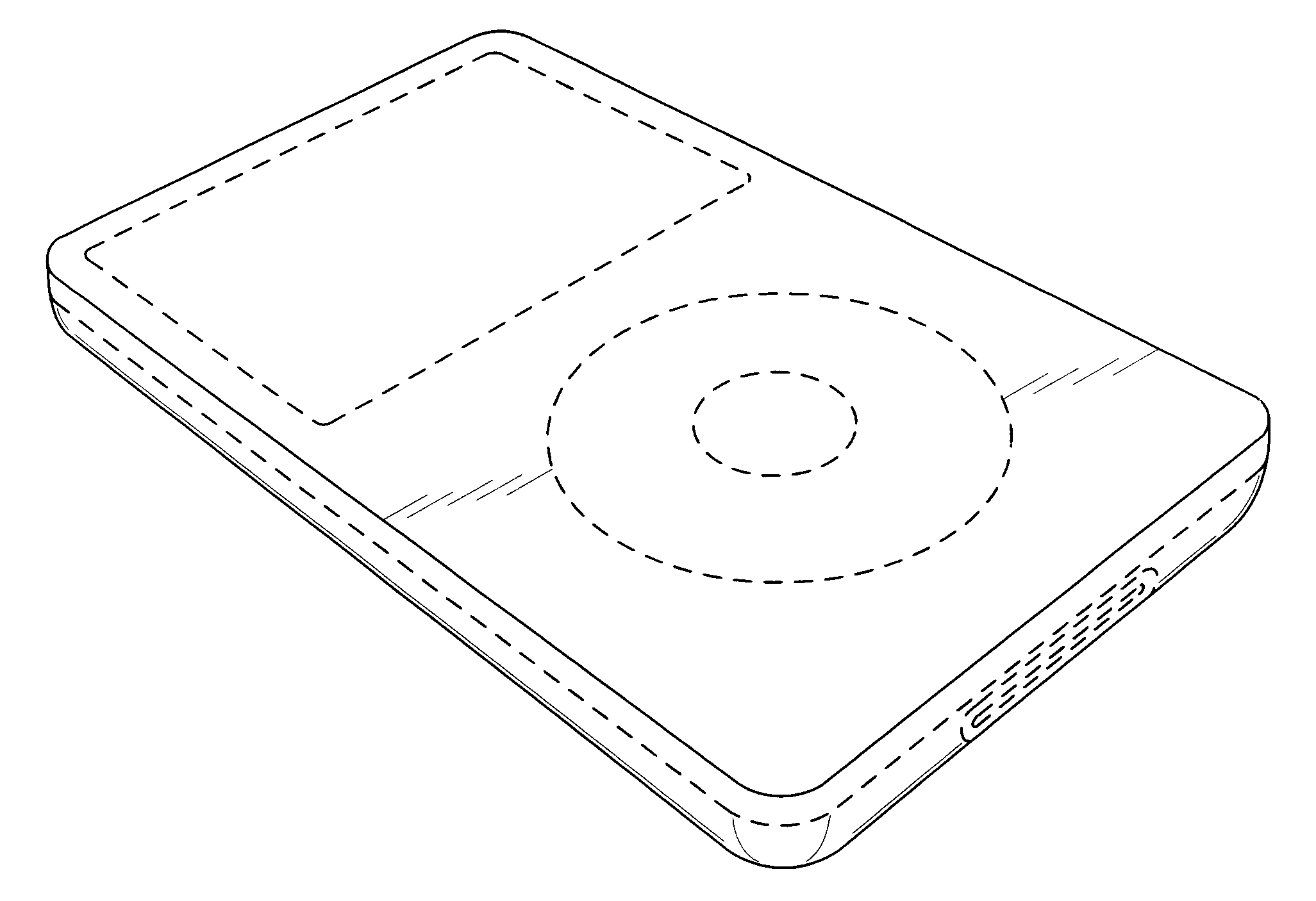 Apple  patent by Steve Jobs from 2007 for media device - USD548747