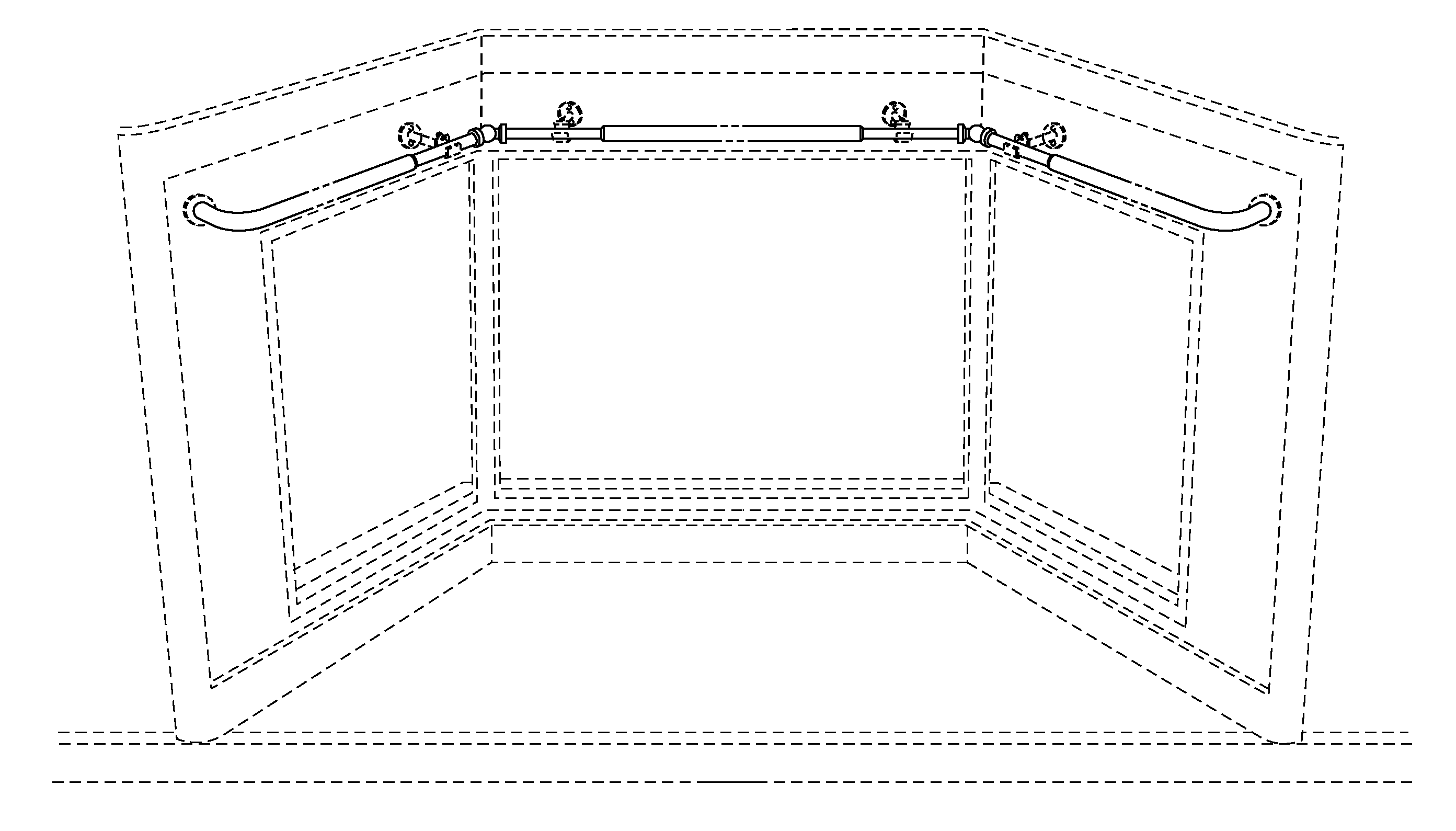 Front Elevation With Bay Window : Patent usd bay window curtain support google patents