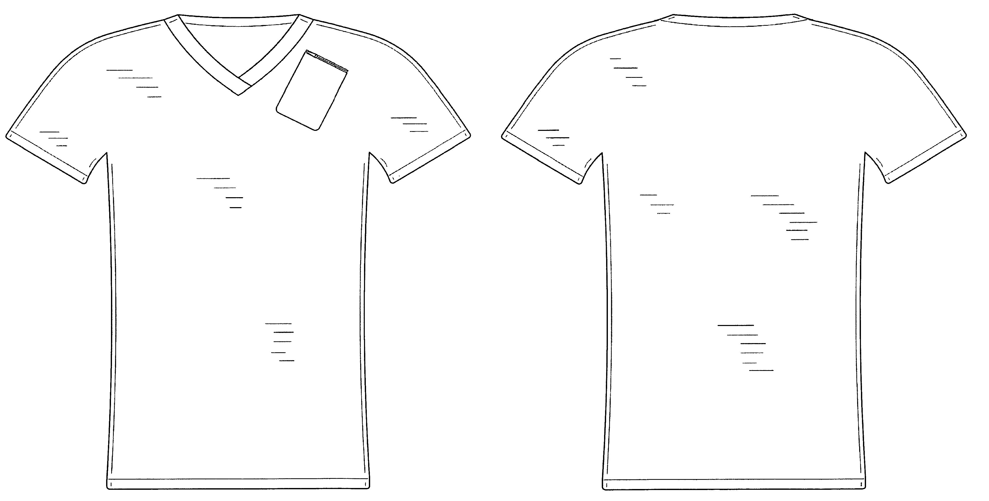 Design shirt v neck - Patent Drawing