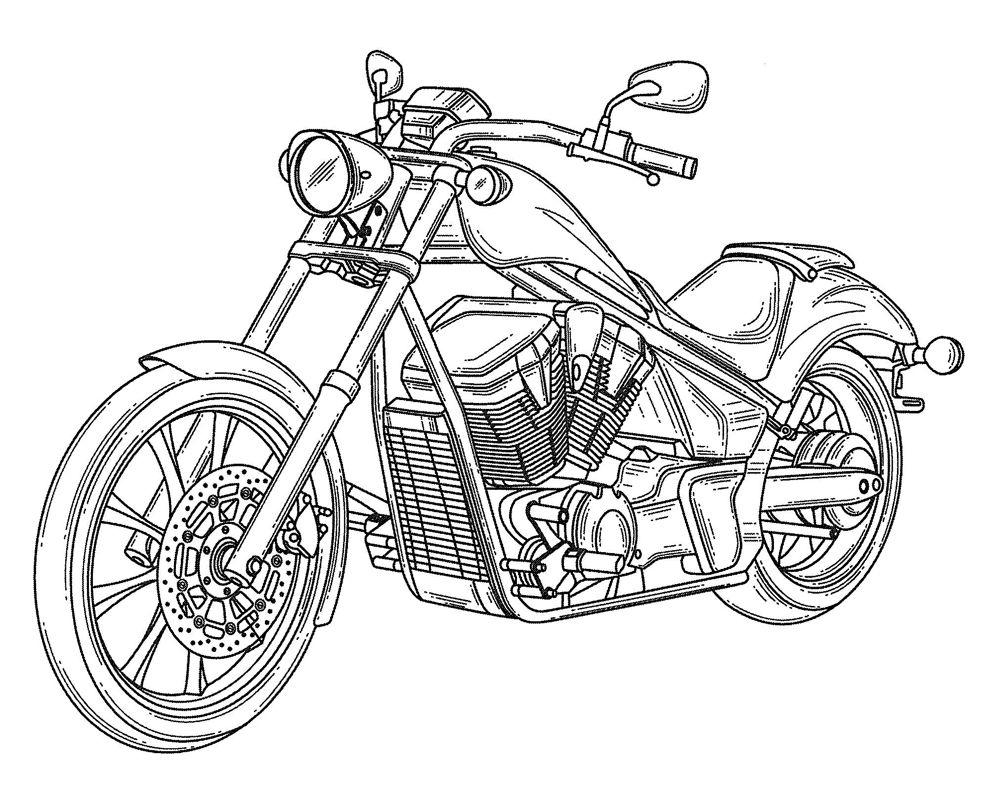 Line Art Motorcycle : Patent usd motorcycle google patents