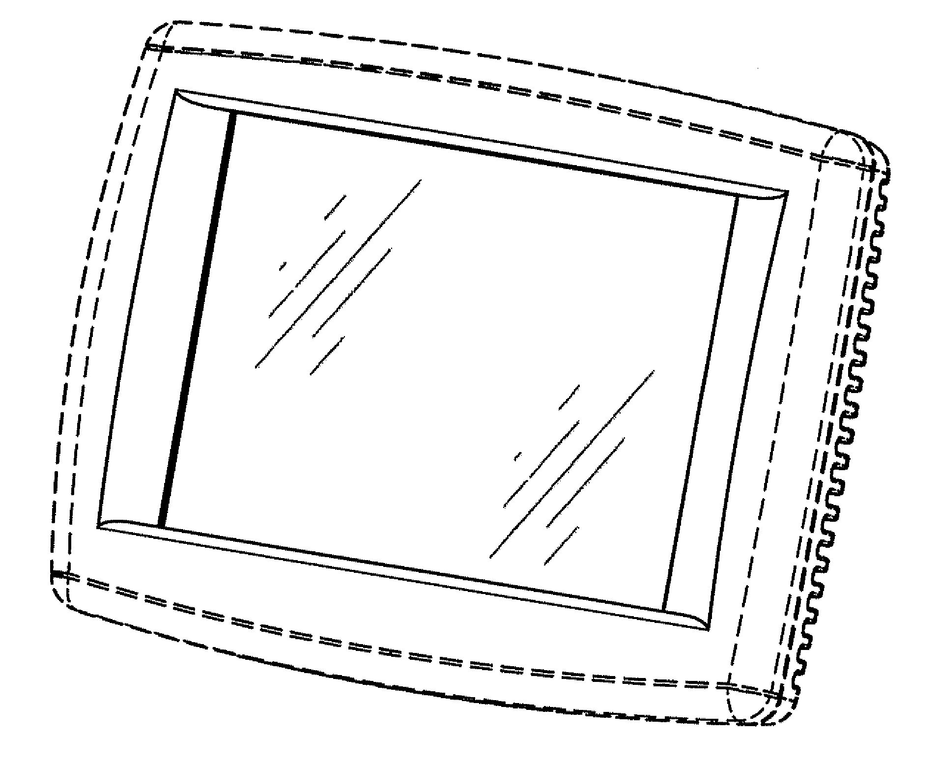 patent usd589822 - touch screen thermostat