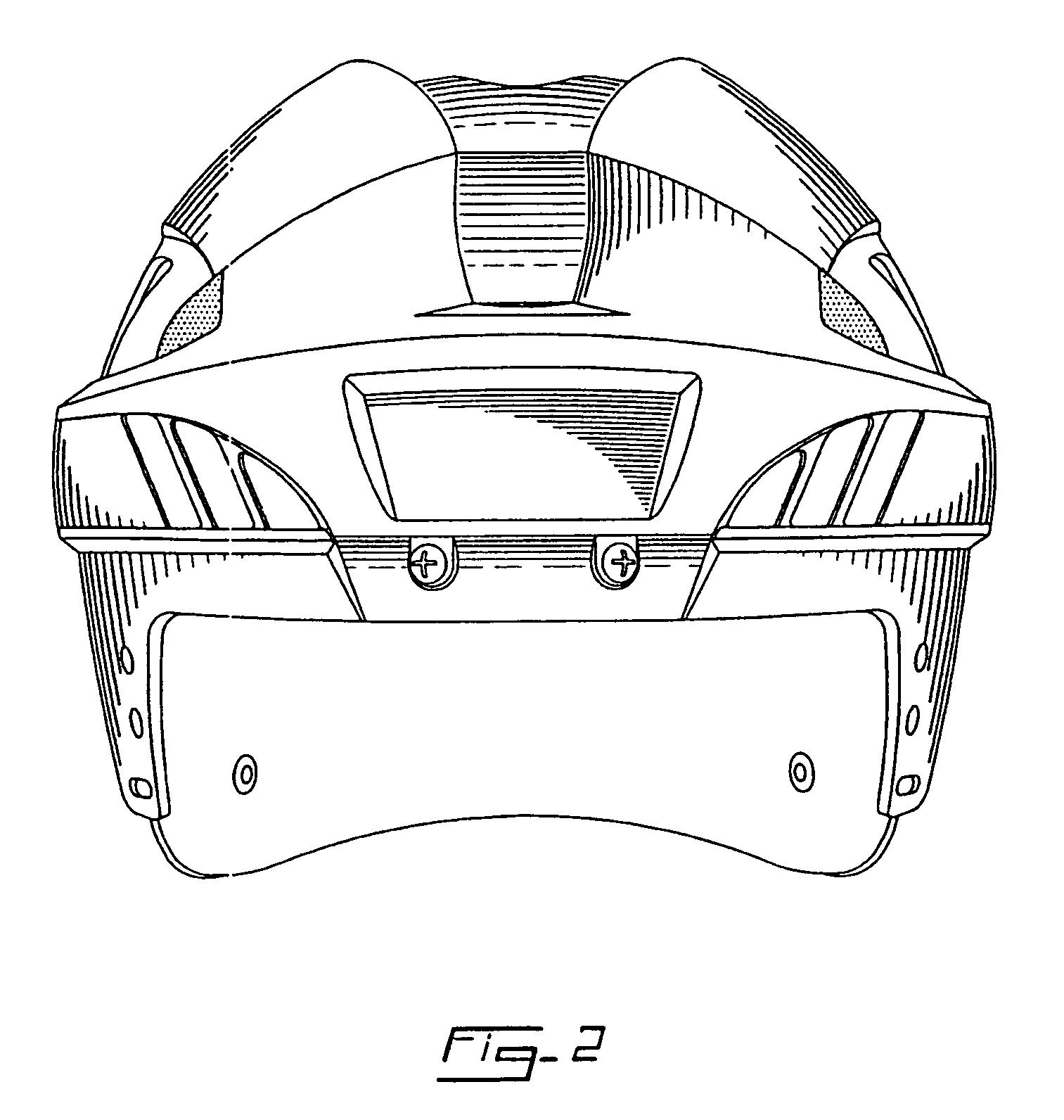Hockey Helmet Drawing Sketch Coloring Page