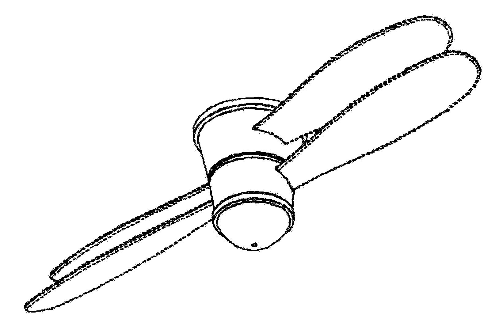 Fan Blade Drawing : Patent usd dual blade ceiling fan google patents