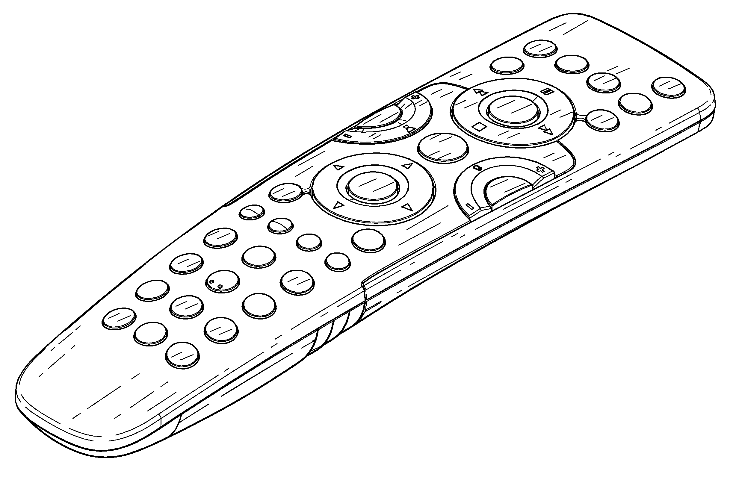 remote control drawing. patent drawing remote control o