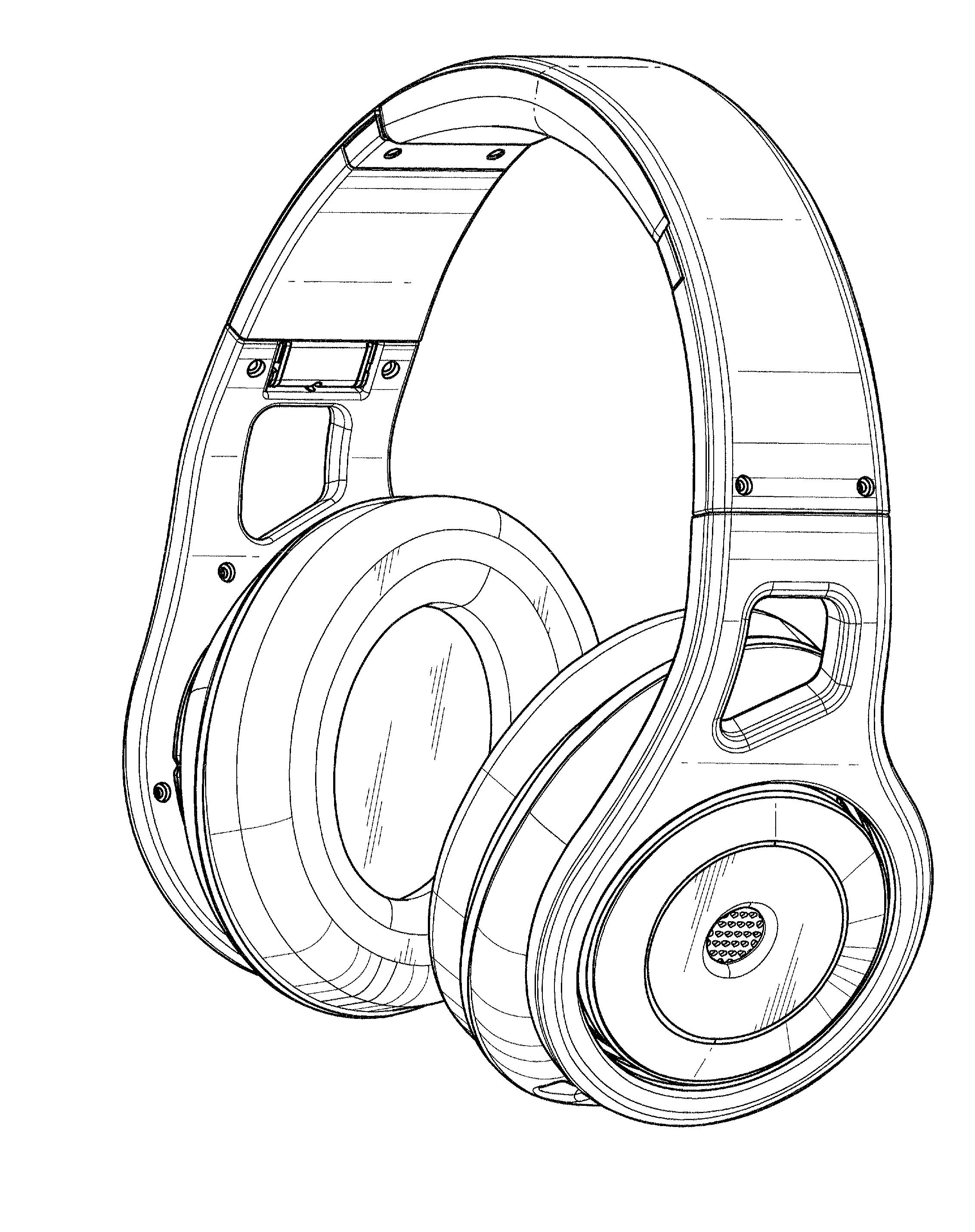 Line Art Headphones : Patent usd headphone google patents