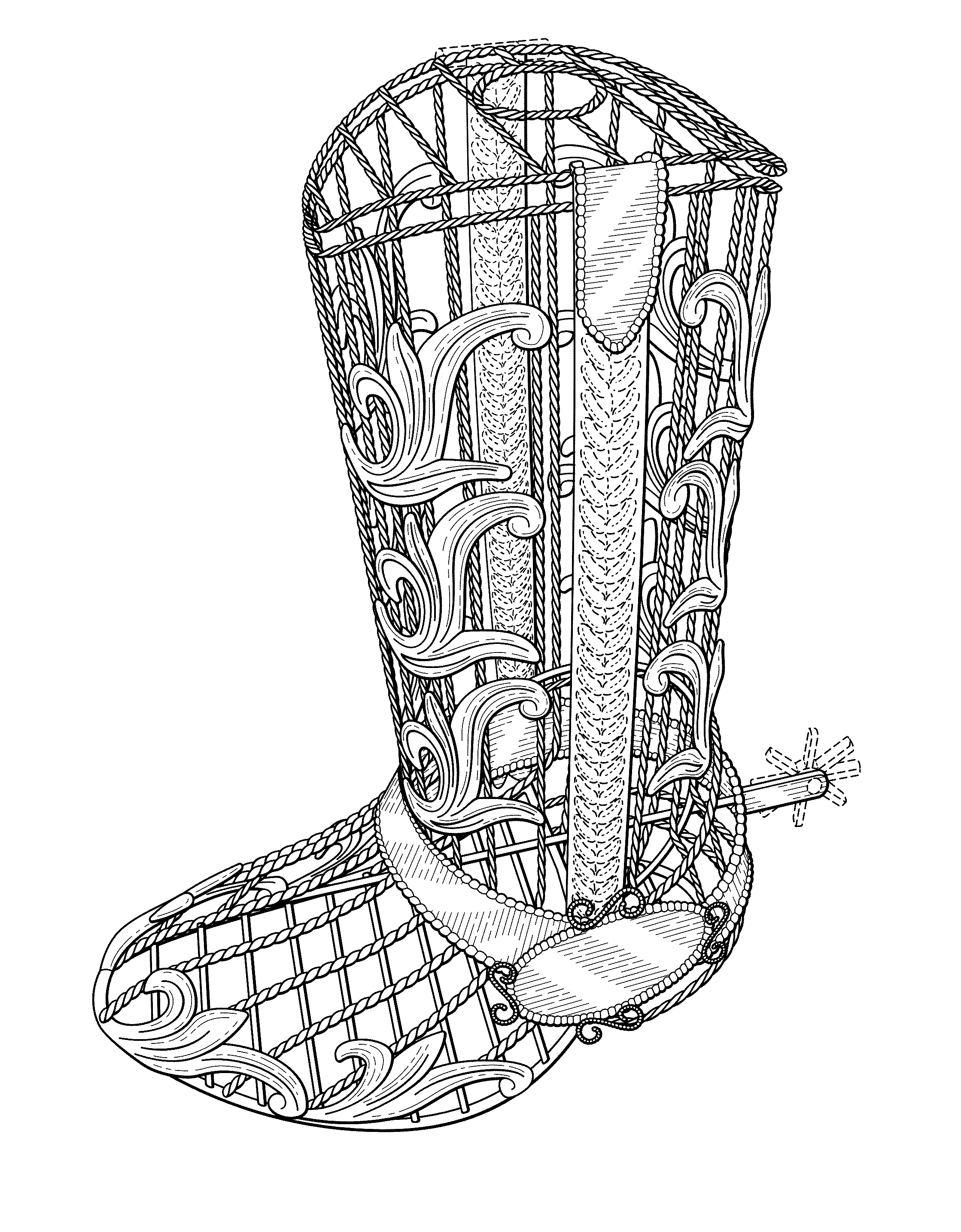 how to draw boots front view - photo #34