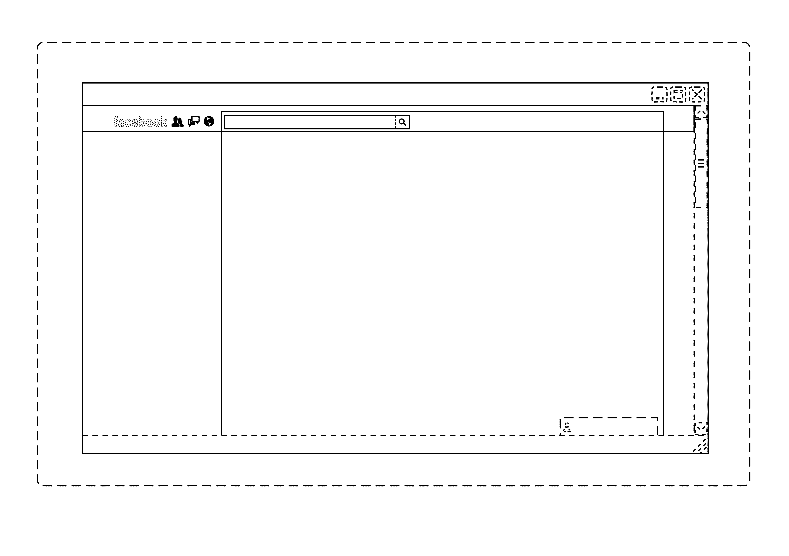 Facebook  patent by Mark Zuckerberg from 2013 for display panel of a programmed computer system with a graphical user interface - USD695304