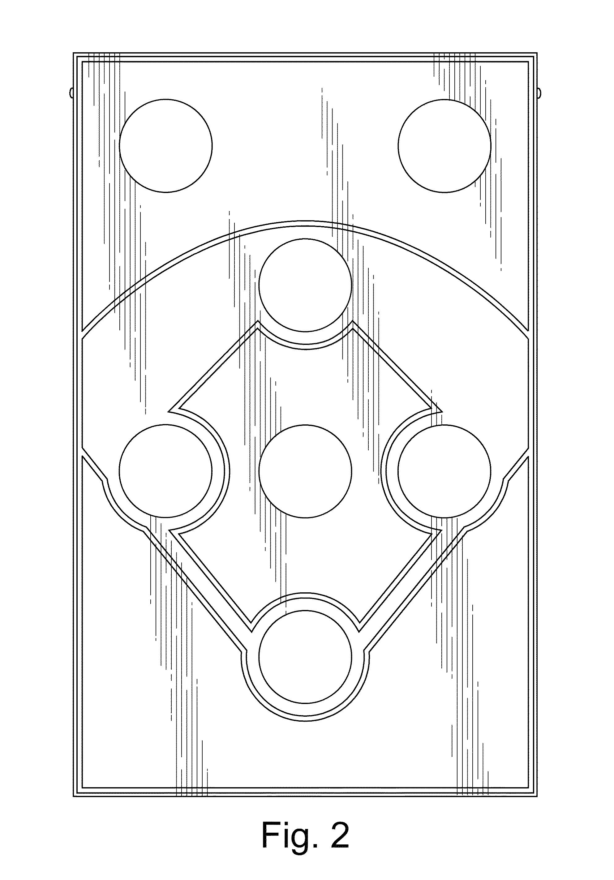 patent usd706353 - baseball cornhole board
