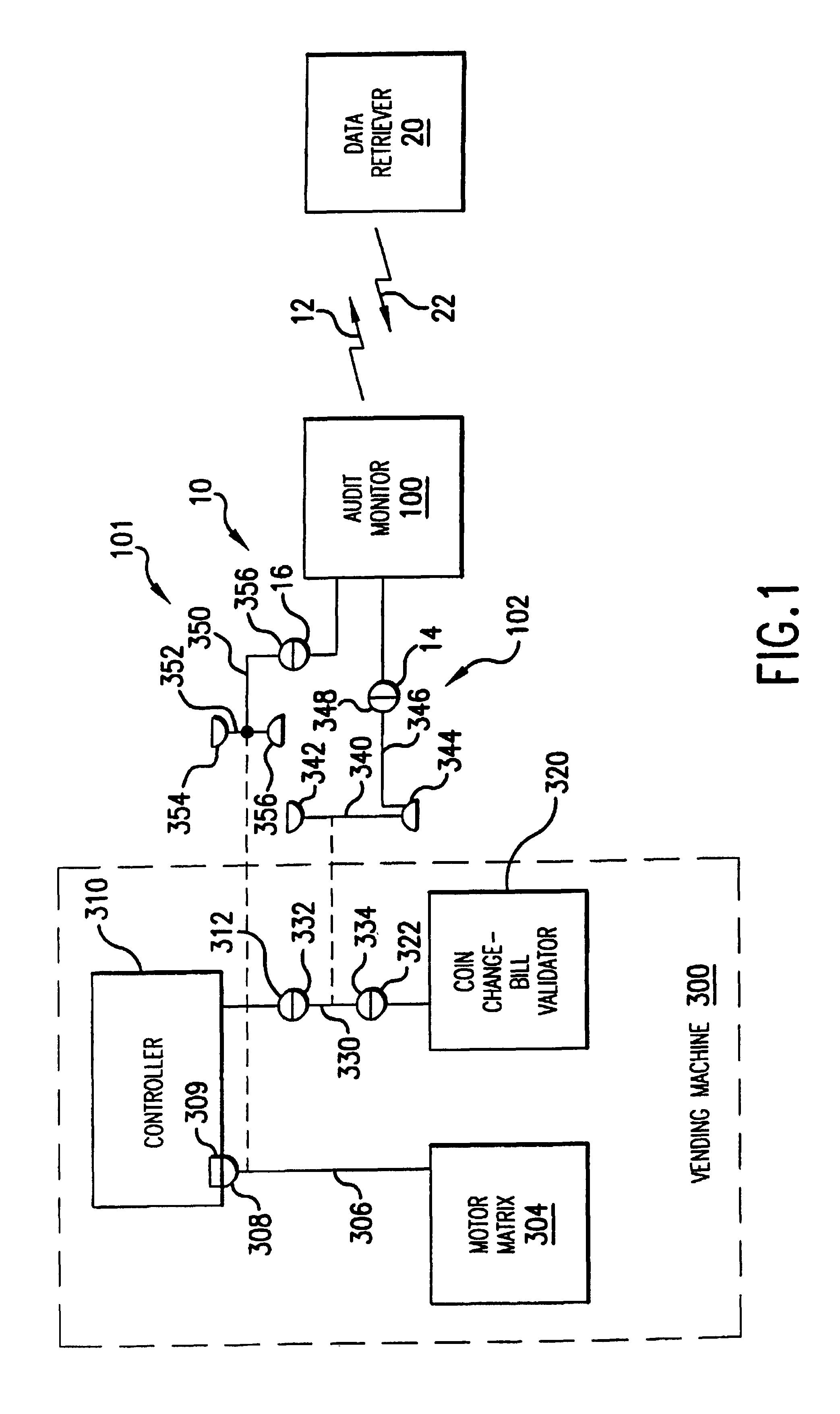 Patent Usre40588 Vending Machine Audit Monitoring System With 1948 Ford 8n Tractor Wiring Diagram Drawing