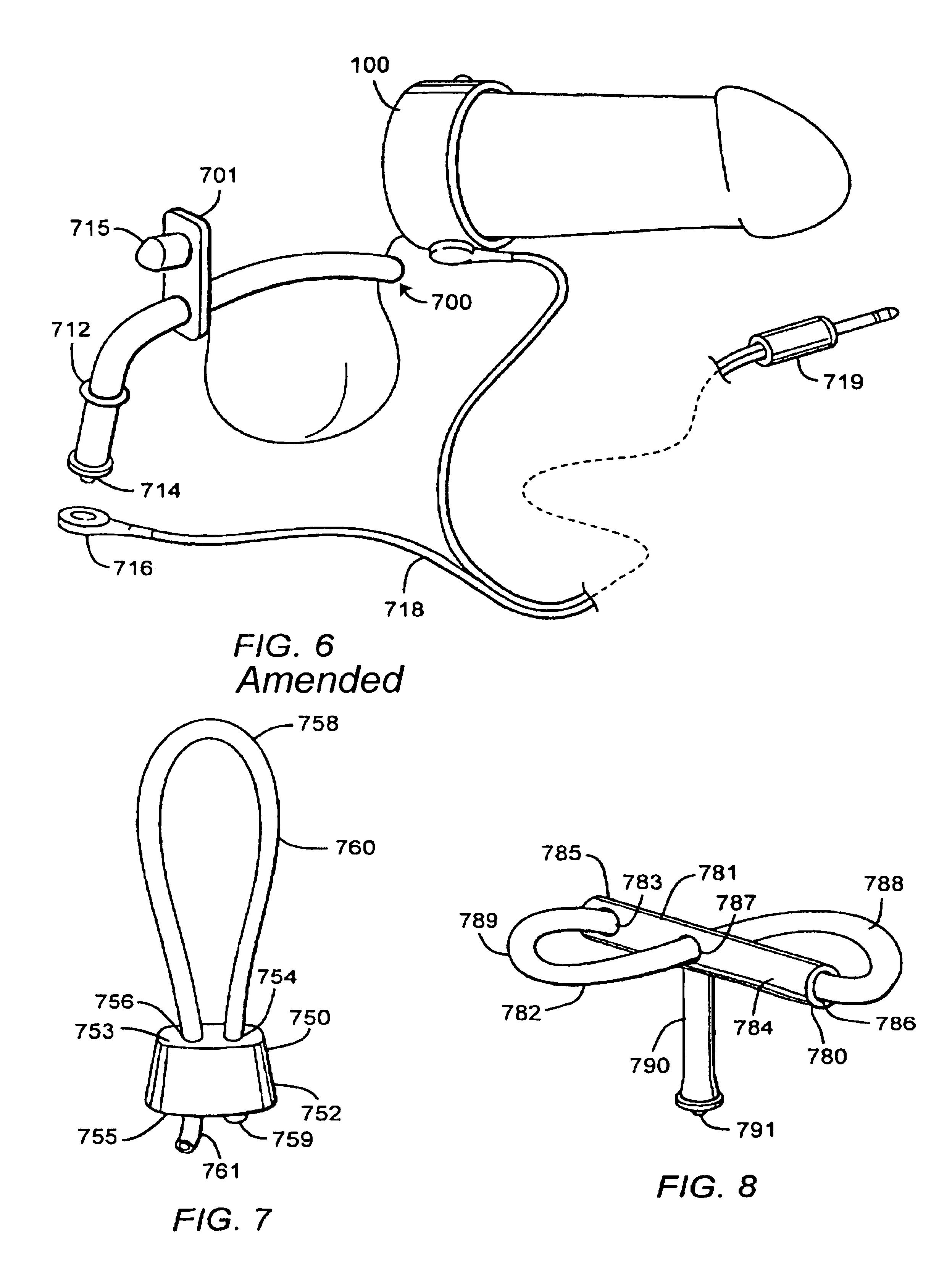 Penile electrostimulation orgasm