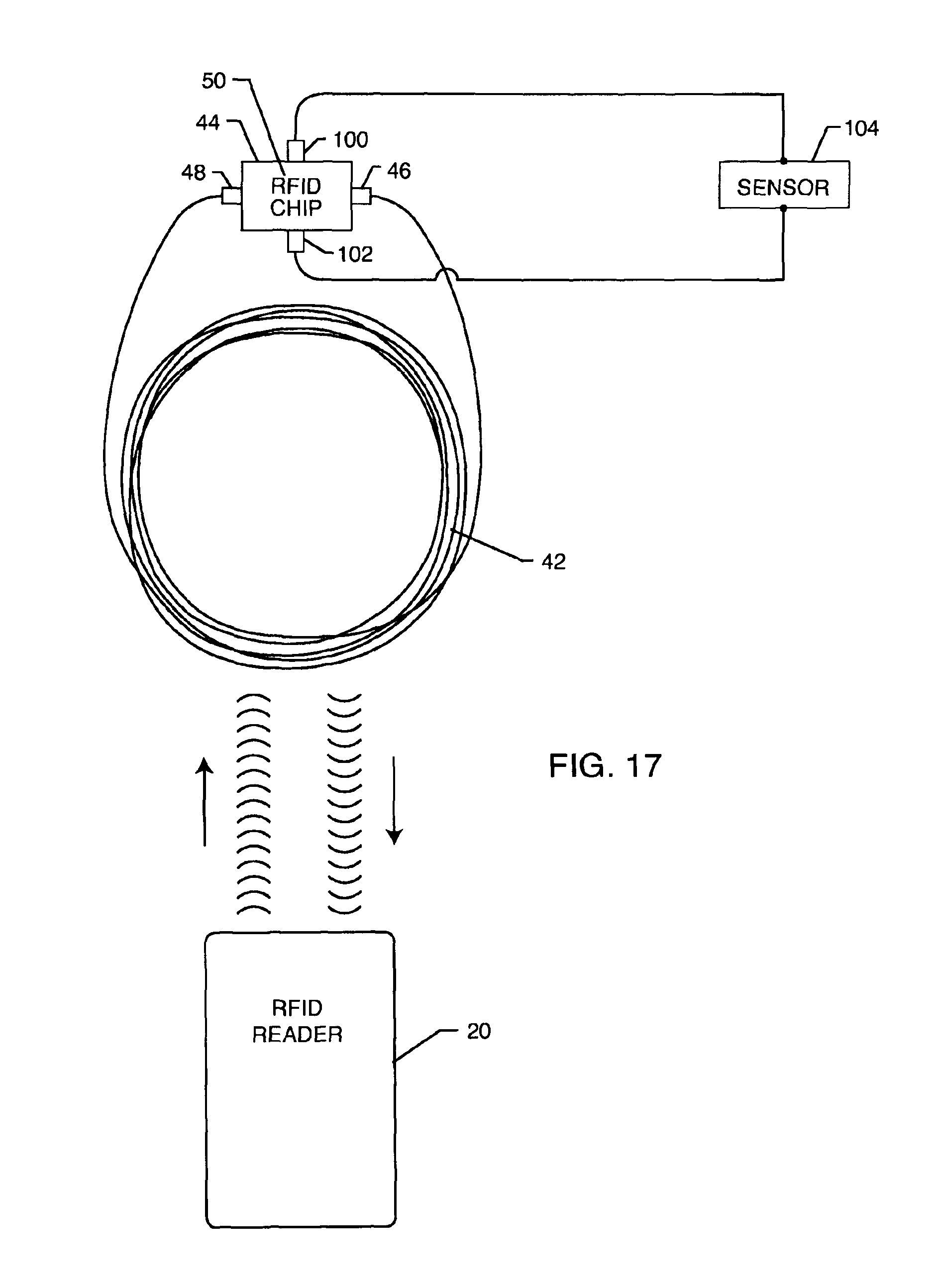 Patent Usre45030 Hermetically Sealed Rfid Microelectronic Chip Block Diagram Of A Tag Drawing