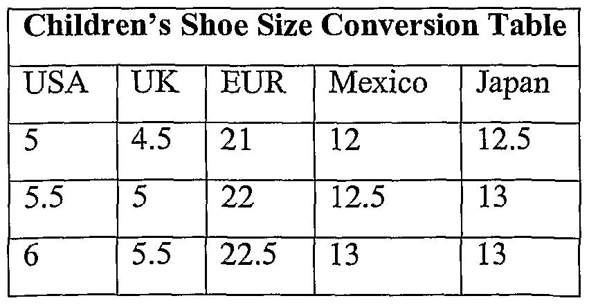 mexican kids shoe chart: Mexican kids shoe chart women s shoes converting charts kids men