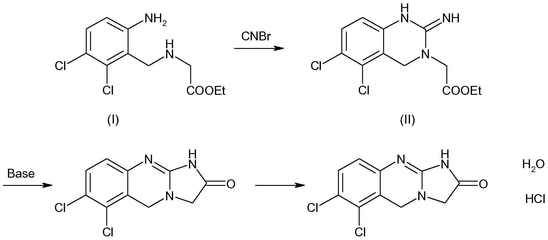 Image result for Anagrelide SYNTHESIS