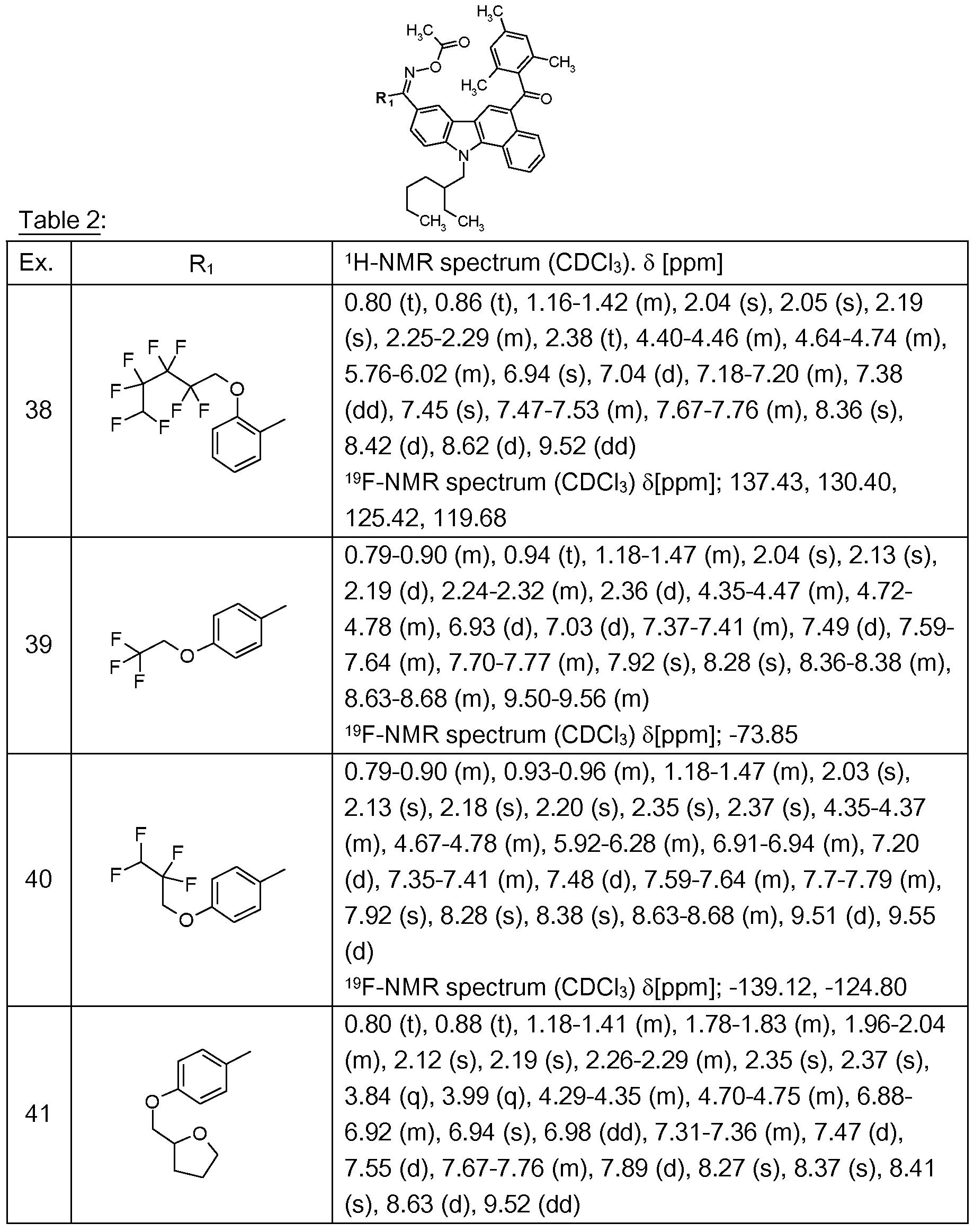 Patent wo2012045736a1 oxime ester derivatives of benzocarbazole figure imgf0000890001 gamestrikefo Images