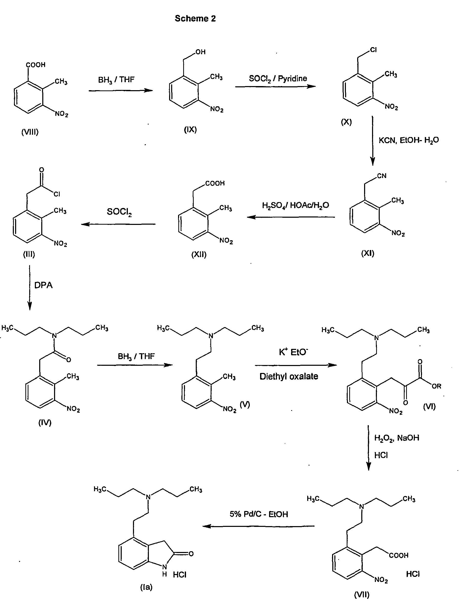 EP1848691B1 - Process for the preparation of indolone derivative