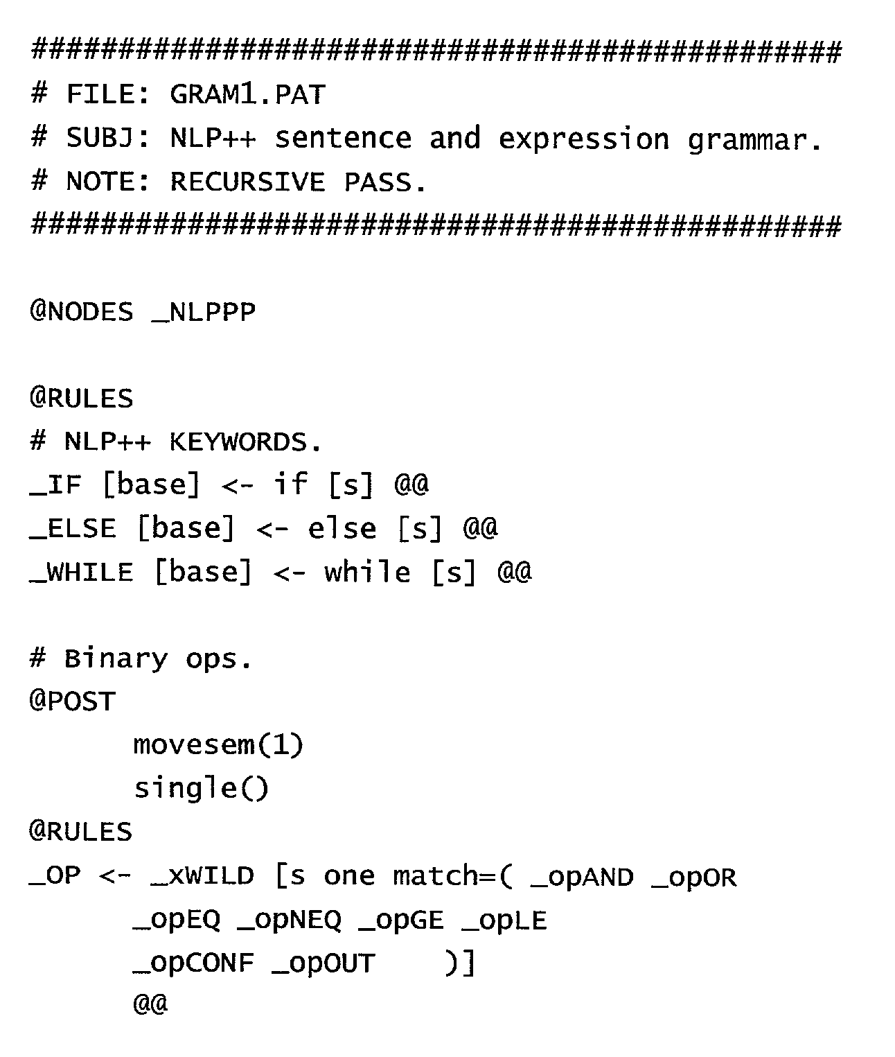 US20020194223A1 - Computer programming language, system and