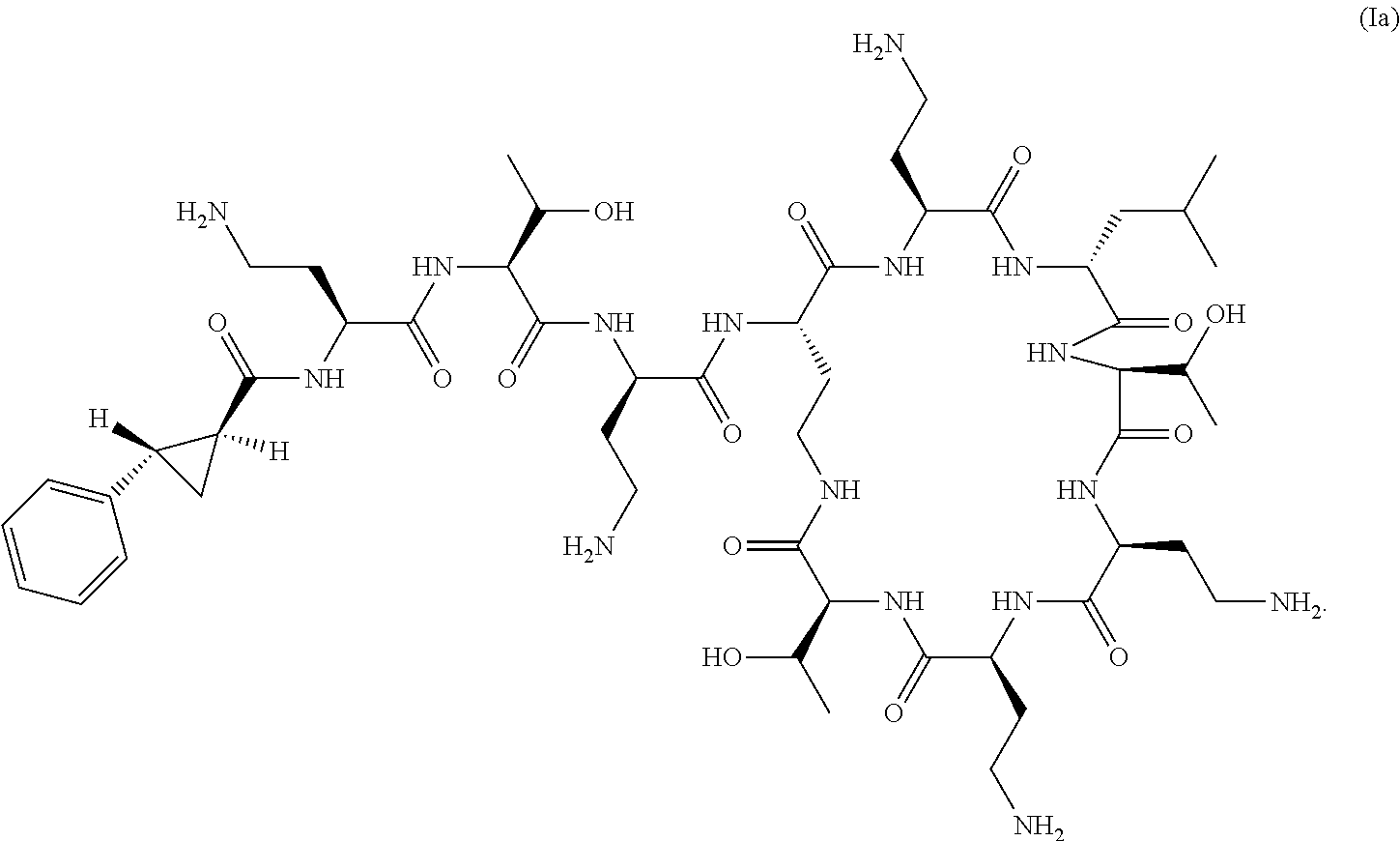 US8415307B1 - Antibiotic compositions for the treatment of
