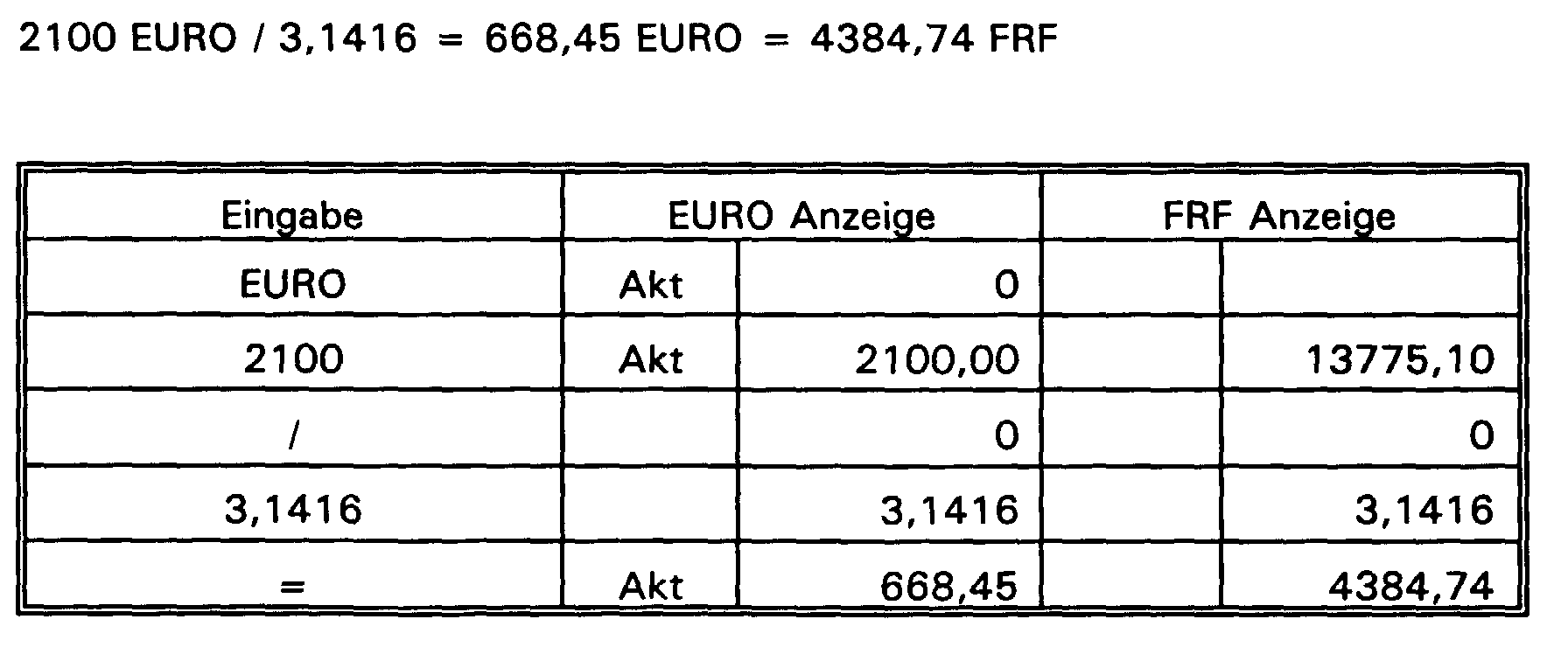 EP1039393A2 - Currency converter - Google Patents