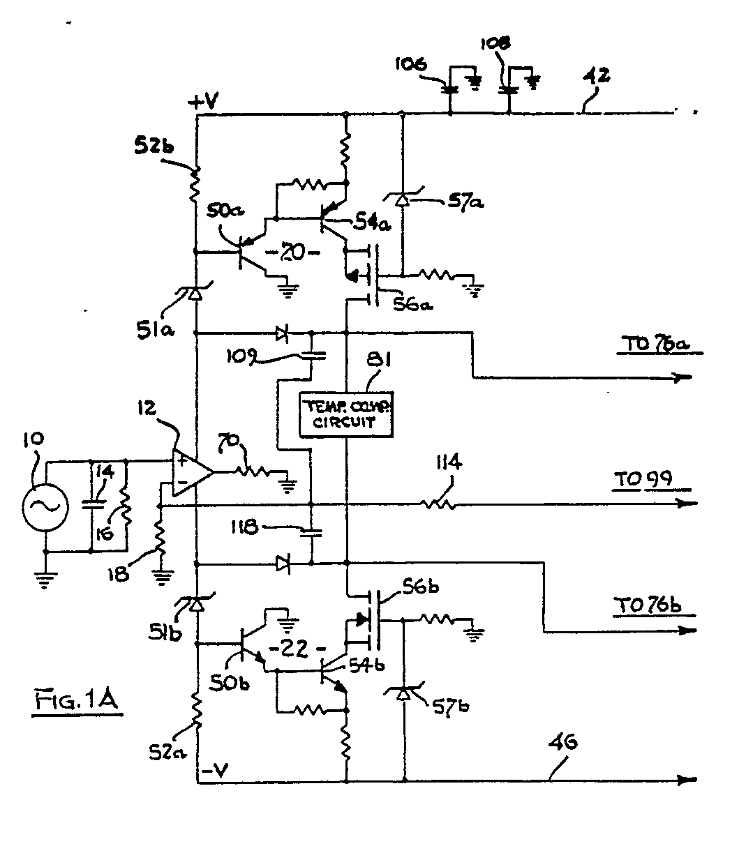 Ep0320540a1 An Audio Amplifier Google Patents Simple Op Amp Inverting Circuit Employing Negative Figure Imgaf001