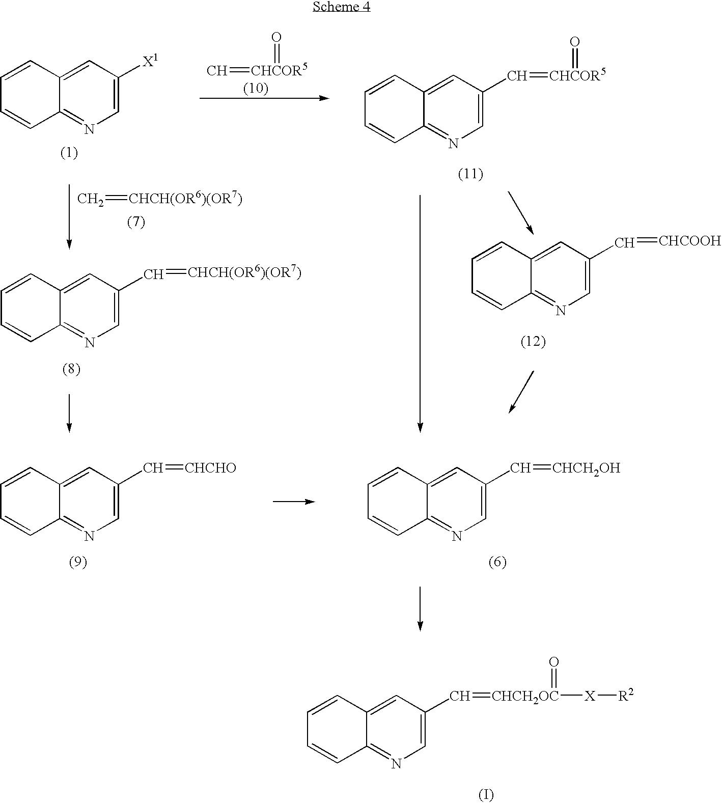 Us7074932b2 Preparation Of Quinoline Substituted