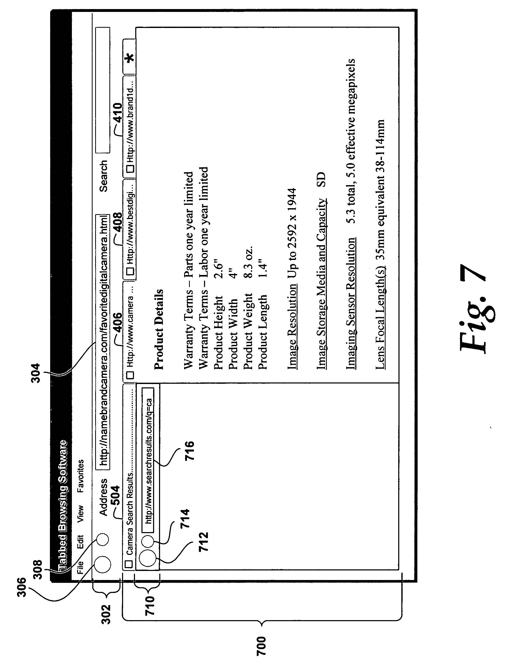 US20060218500A1 - System and method for pinning tabs in a