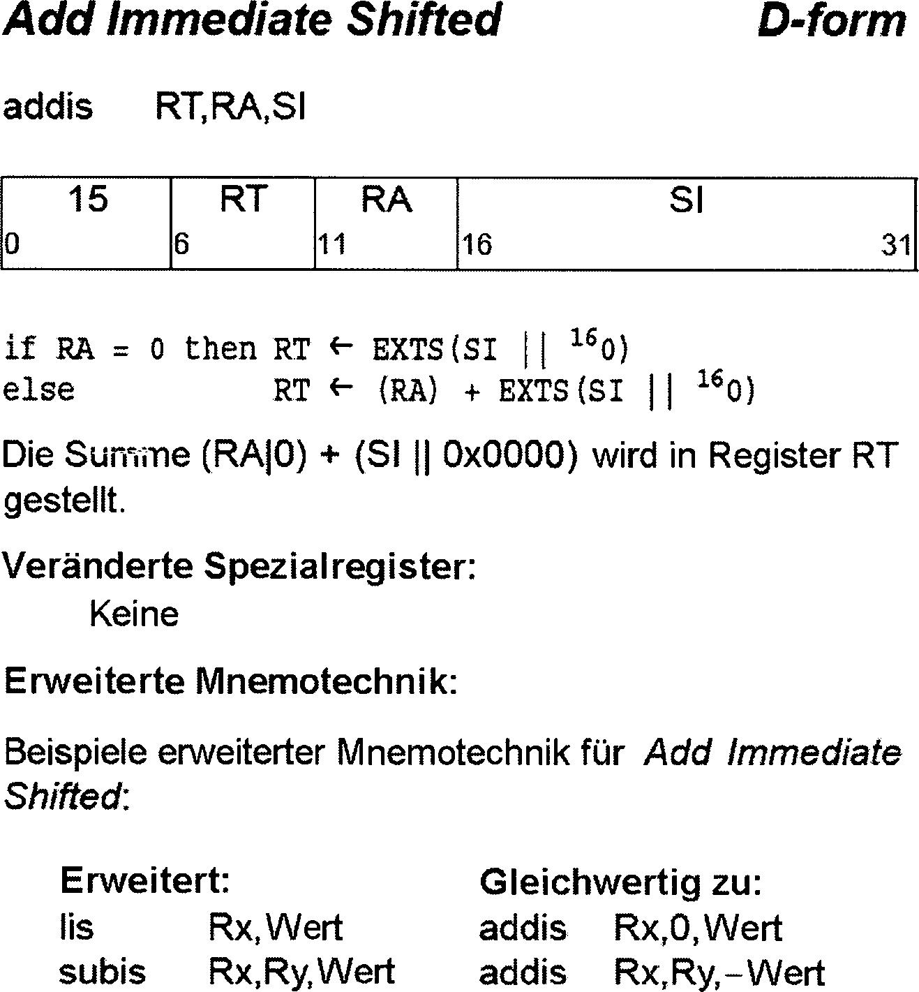 DE102012216565A1 - Decoding-time computer instruction