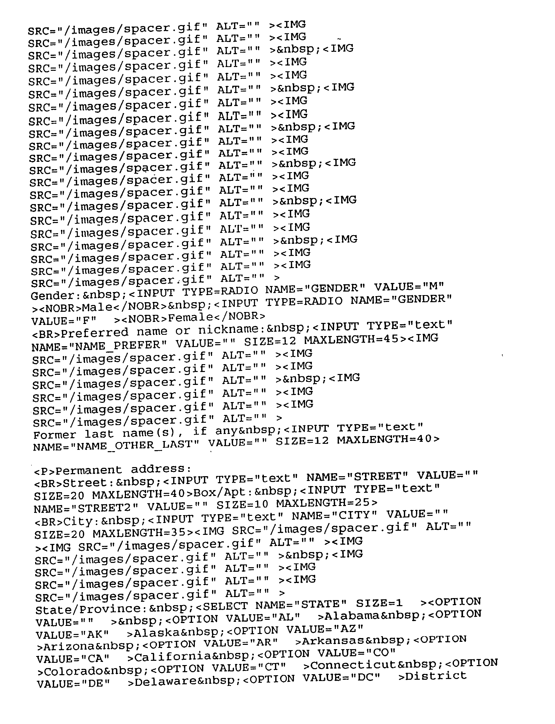 Figure US20030145018A1-20030731-P00004