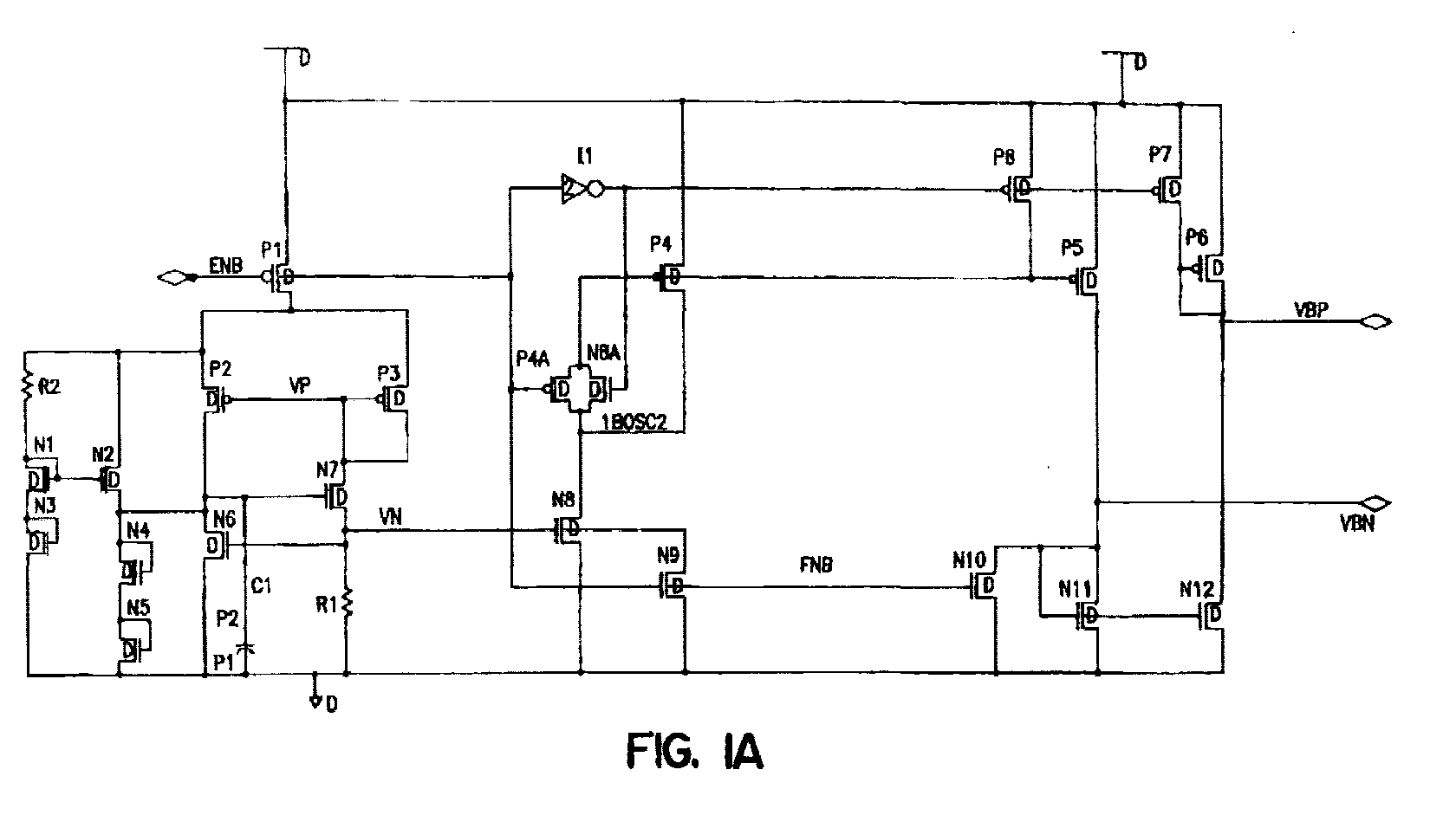 Ep1081835a3 Mos Charge Pump Generation And Regulation Method Transistors Operation Figure 00000001