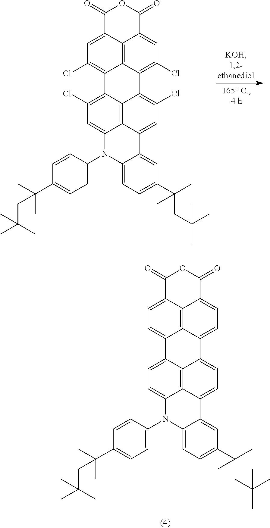 Us20160024106a1 Perylenemonoimide And Naphthalenemonoimide 46 Solar Cells Characteristics Iscshort Circuit Current Vocopen Figure 20160128 C00029