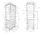 US9738447B1 - Telescoping dunnage rack - Google Patents