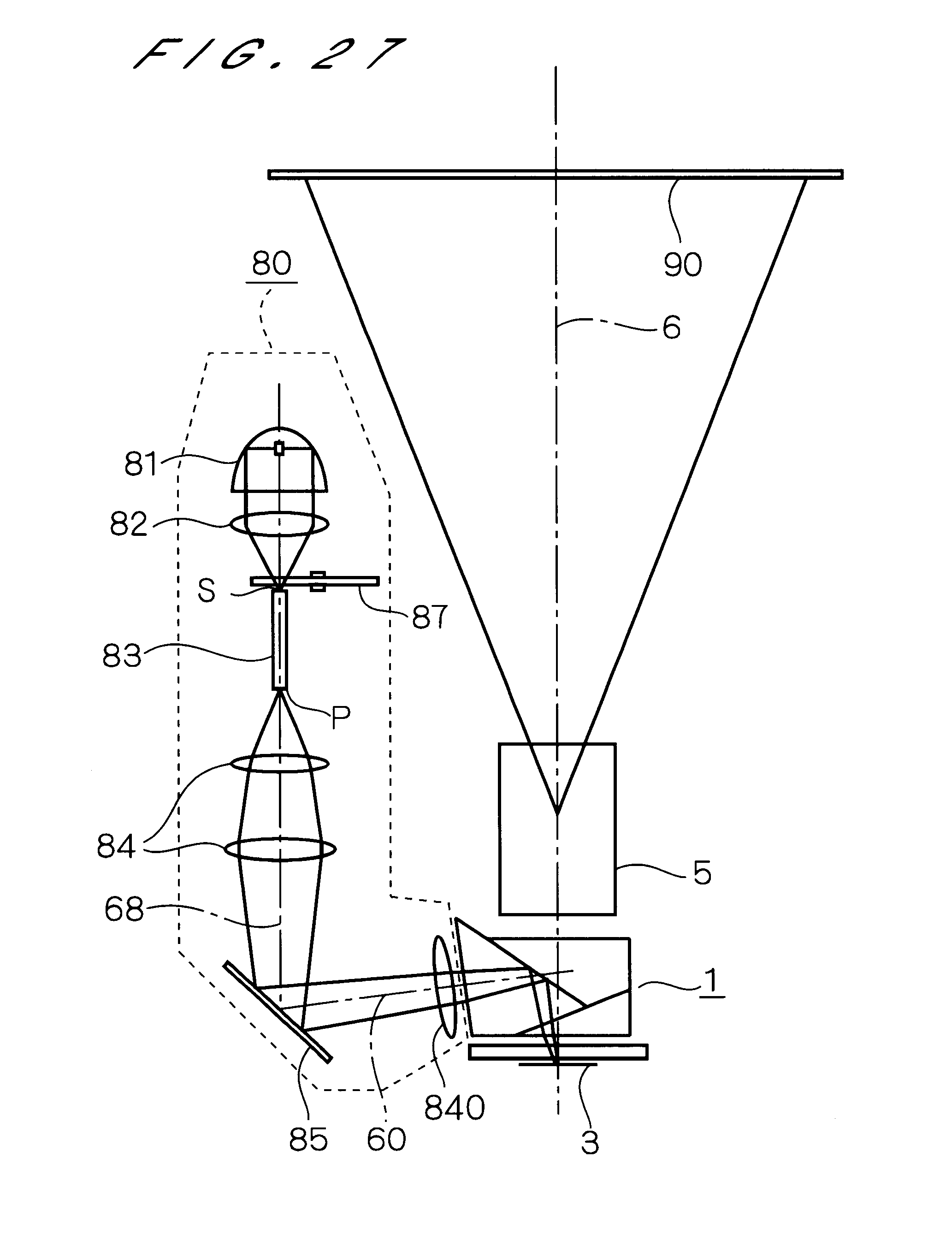 US6349006B1 - Prism having two inner surfaces and outer ... on