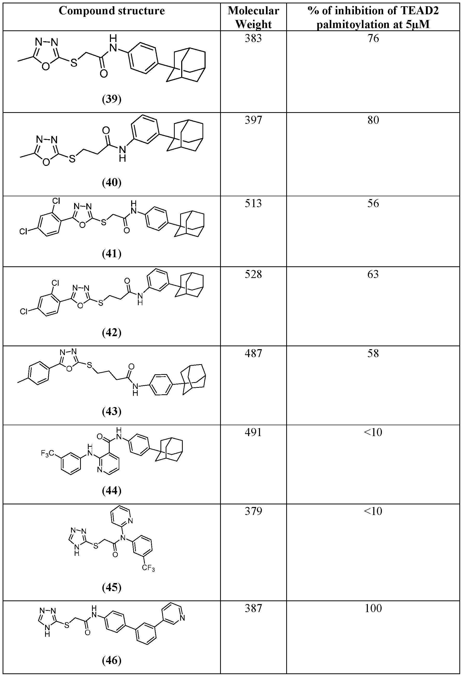 WO2017053706A1 - Tead transcription factor autopalmitoylation
