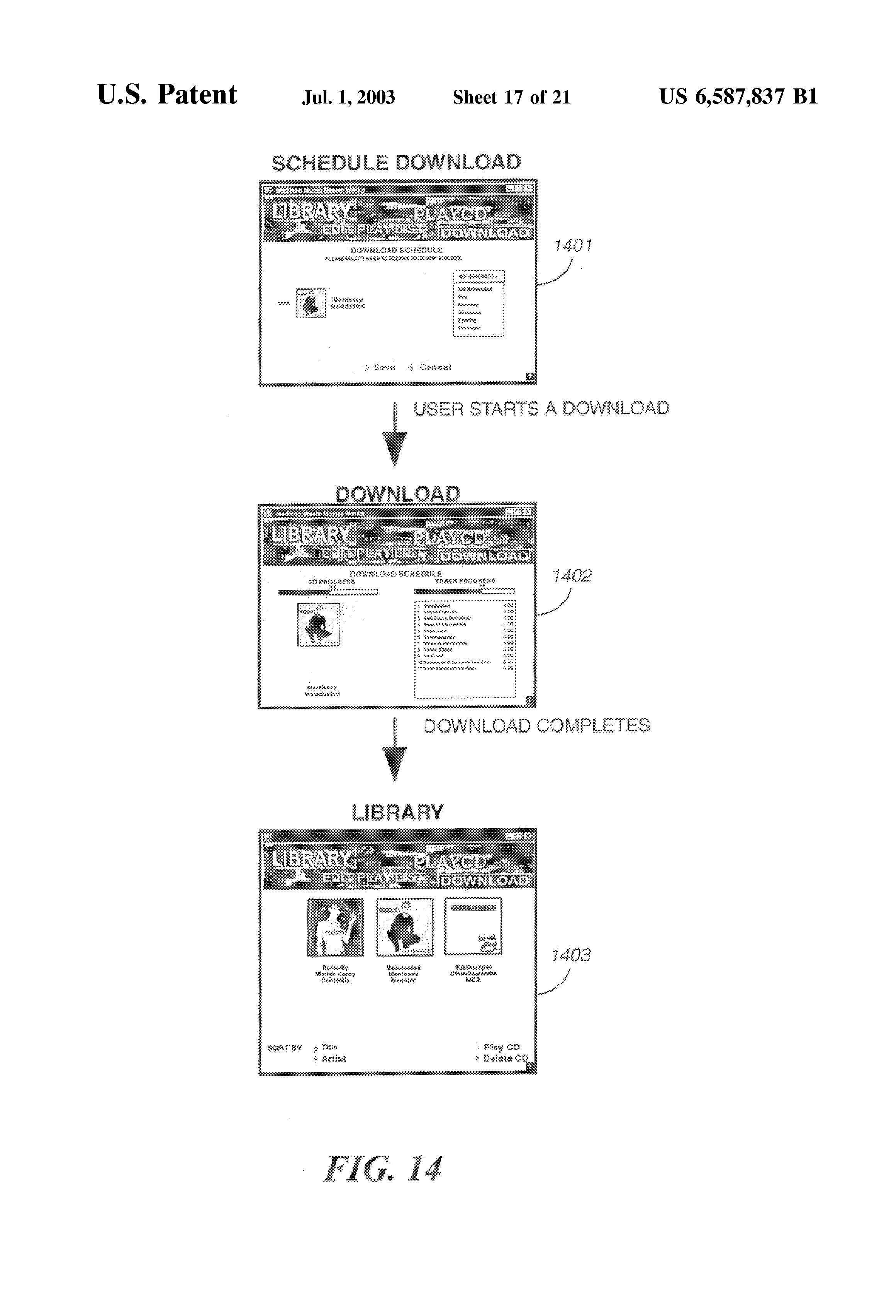 US6587837B1 - Method for delivering electronic content from