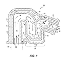 US6290558B1 - Exhaust elbow with a water trap for a marine