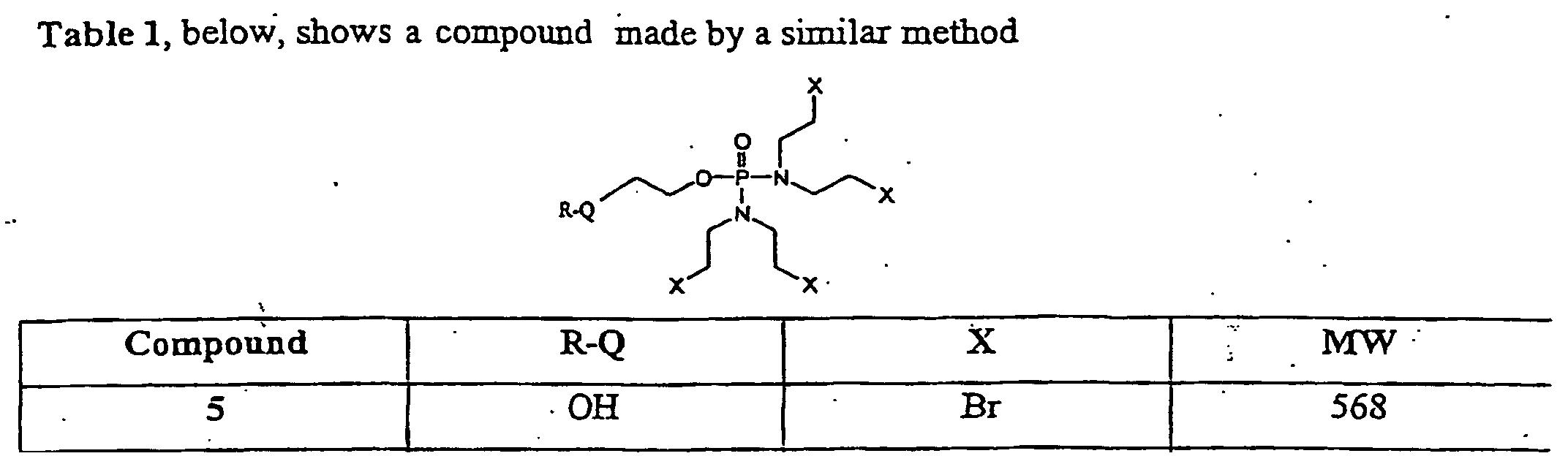 EP1278759B1 - Bis-(n,n'-bis-(2-haloethyl)amino