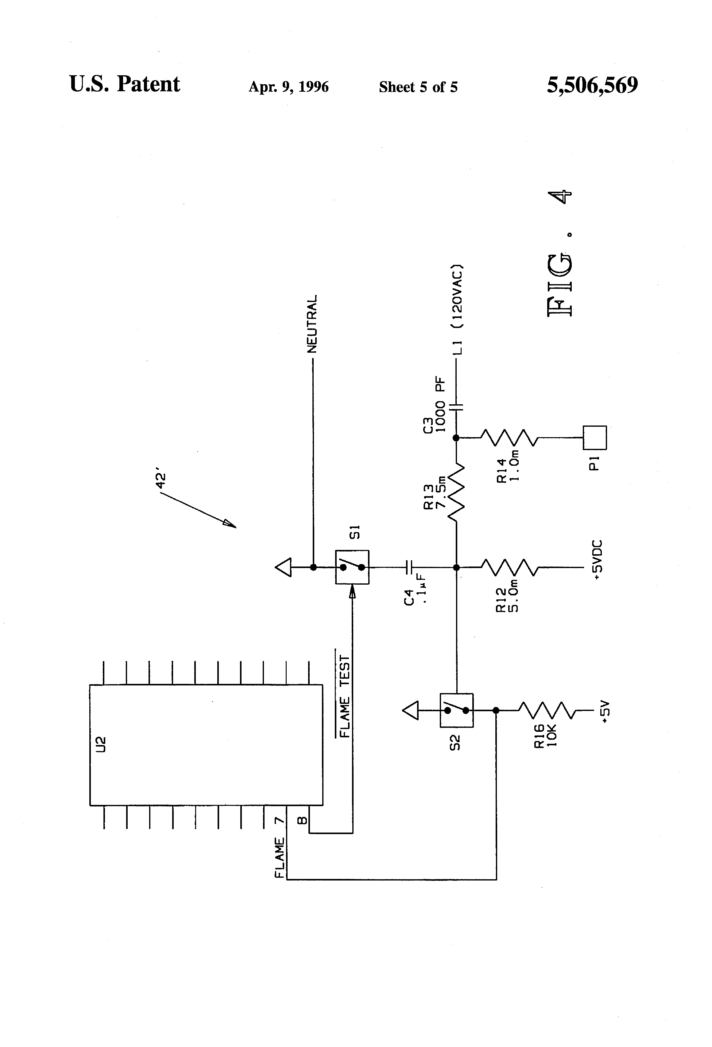 US5506569A - Self-diagnostic flame rectification sensing circuit and on